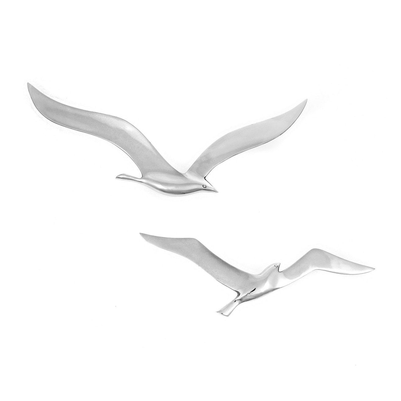 Most Recently Released Seagull Metal Wall Art Pertaining To Seagull Bird – Handmade Metal Wall Art Decor – Silver, Small 27Cm (View 3 of 15)