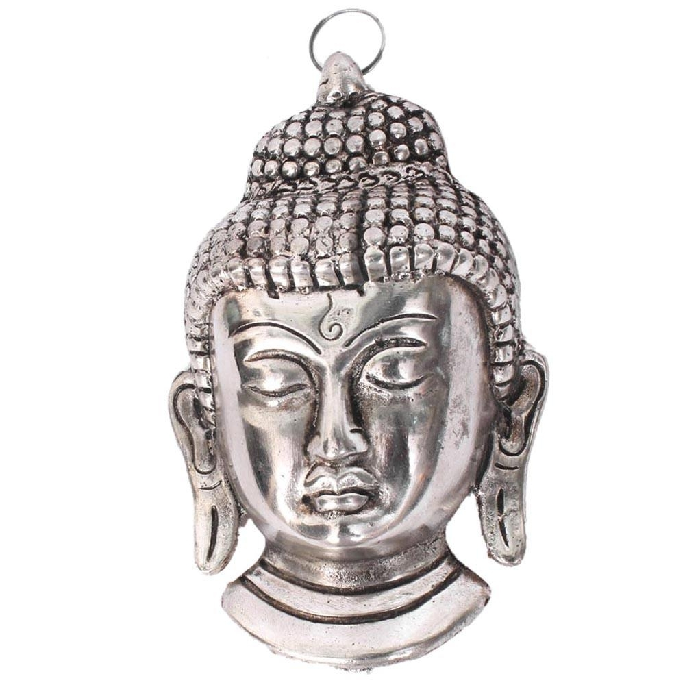 Most Recently Released Silver Buddha Wall Art Throughout Home Sparkle Aluminium Buddha Face Wall Hanging (View 7 of 15)