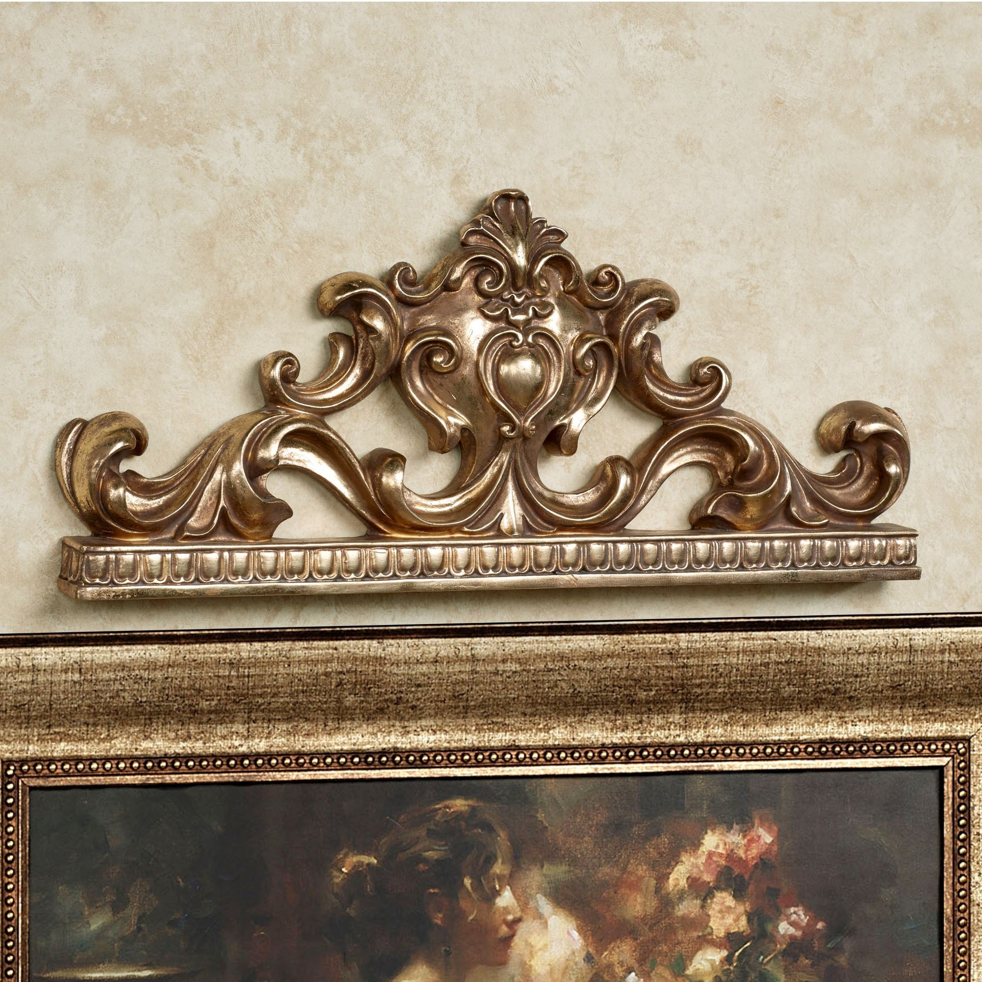 Most Recently Released Silver Metal Wall Art Tags : Italian Wrought Iron Ornament Day Bed In Italian Silver Wall Art (View 12 of 15)