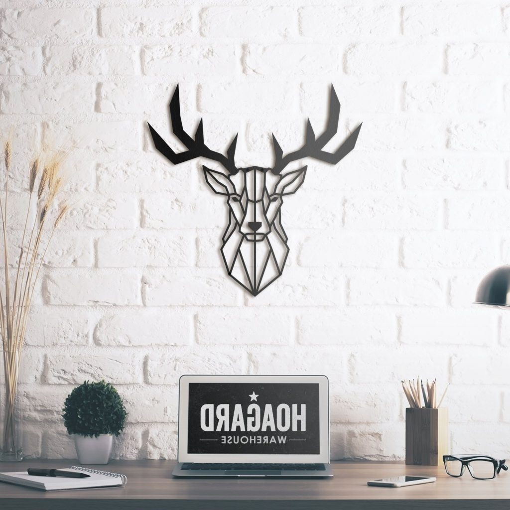 Most Recently Released Stag Wall Art With Luxury Idea Deer Head Wall Art Plus Metal Hoagard Co Plaque (View 6 of 15)