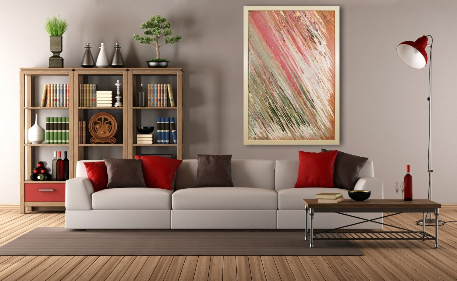 Most Recently Released Stunning Oversized Wall Art Blue Brown Abstract Landscape Shoa Regarding Feminine Wall Art (View 6 of 15)