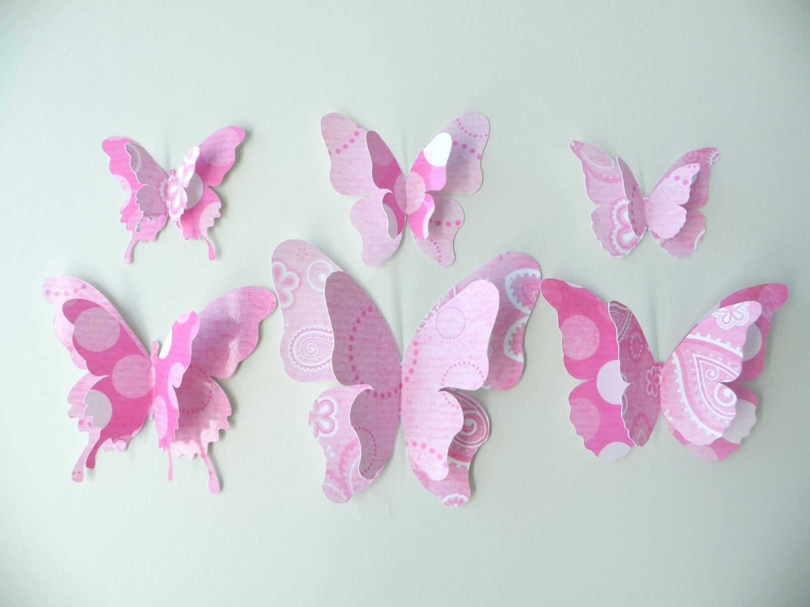Most Recently Released Sunshiny D Butterfly Wall With Image Butterfly Wall Decor Intended For Pink Butterfly Wall Art (View 12 of 15)