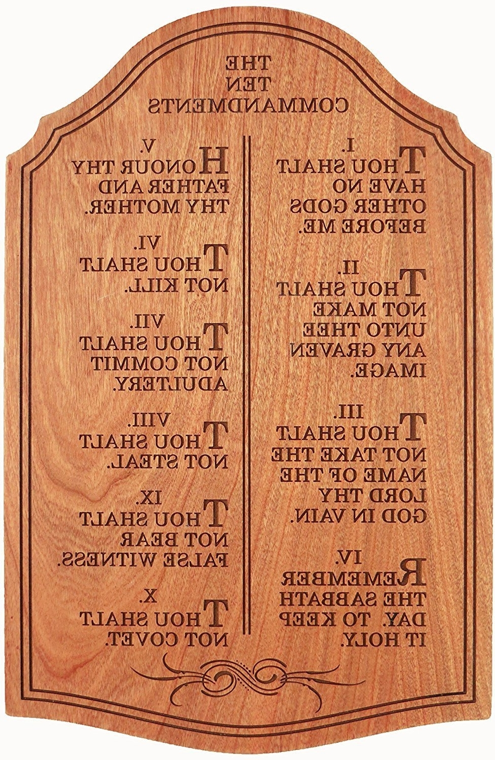 Most Recently Released Ten Commandments Wall Art With Amazon: The Ten Commandments, Wall Décor – Laser Engraved (View 6 of 15)