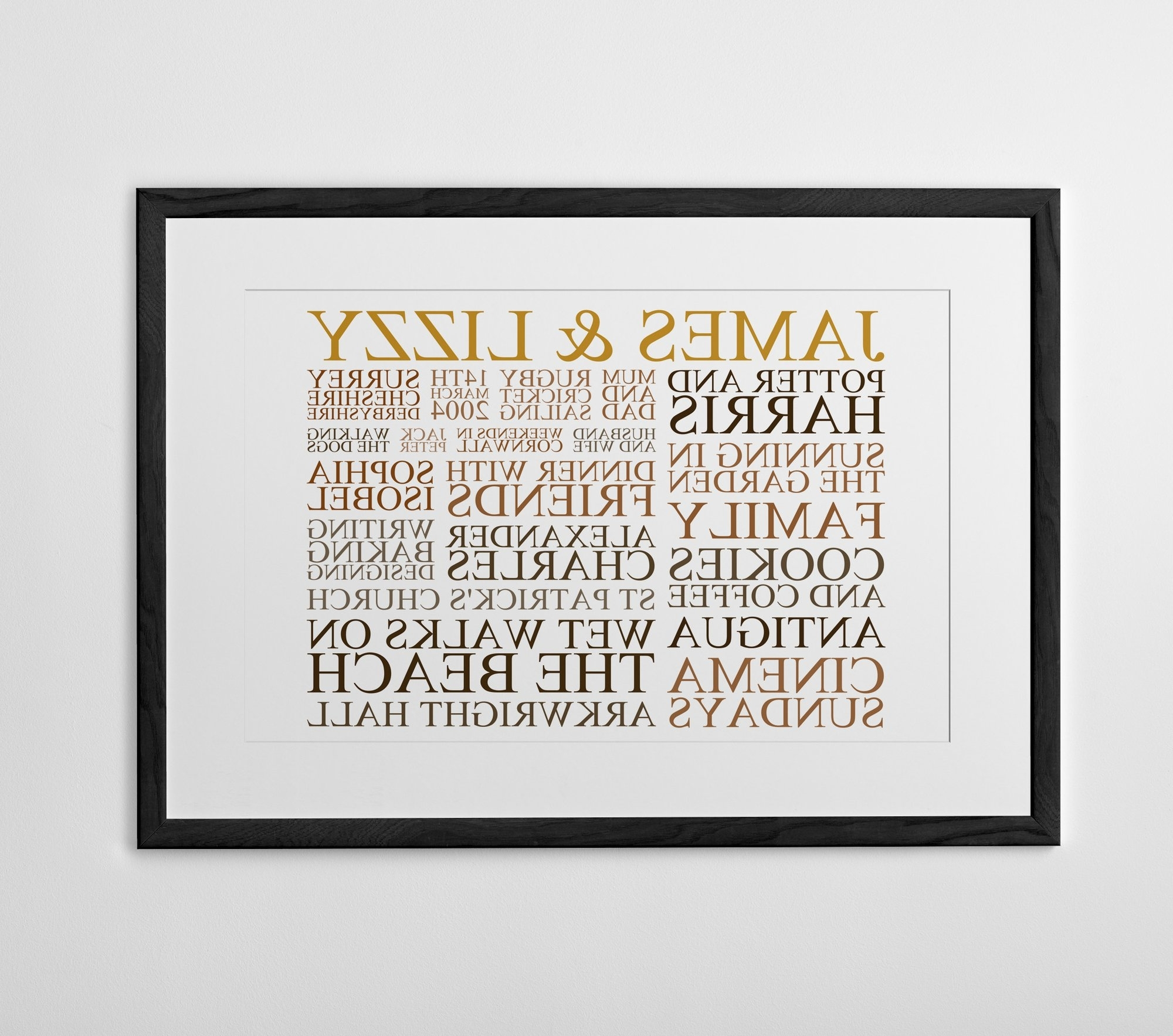 Most Recently Released Typography Canvas Wall Art In Personalized Typography Prints, Posters And Canvases – Posterhaste (View 2 of 15)