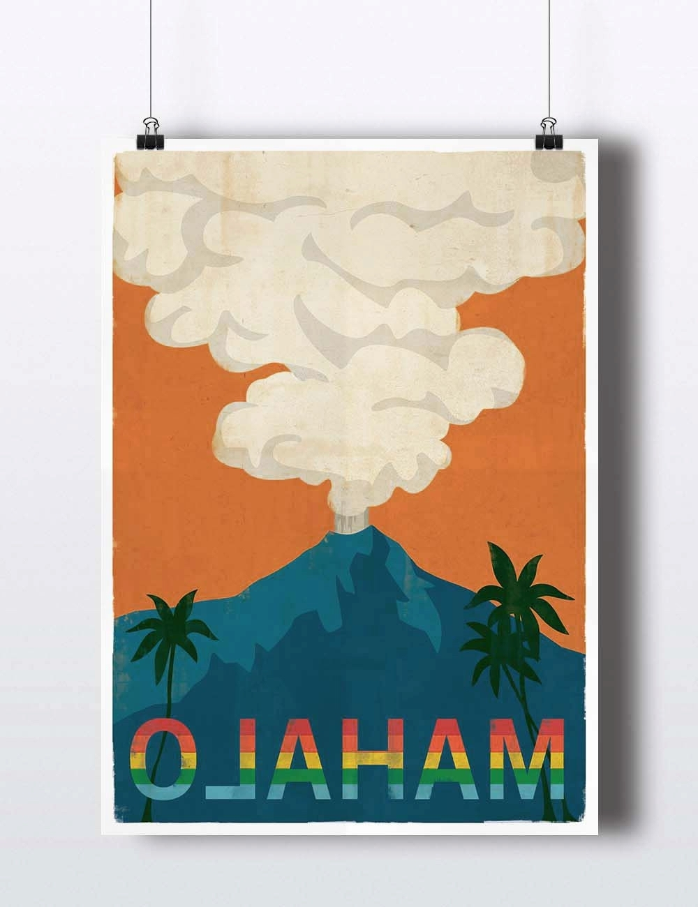 Most Recently Released Vintage Hawaii Poster Retro Vintage Hawaiian Art Print Mahalo Pertaining To Hawaiian Wall Art (View 3 of 15)