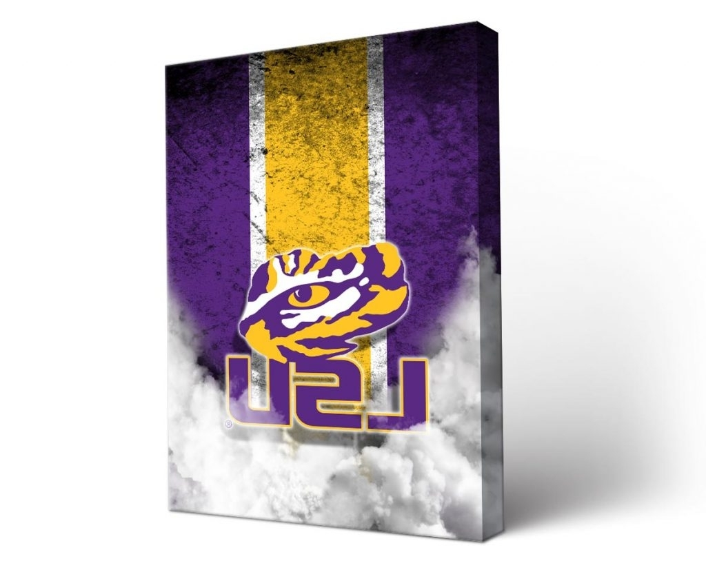 Most Recently Released Wall Art Design Ideas: Captivating Lsu Canvas Wall Art, Lsu Regarding Lsu Wall Art (View 2 of 15)