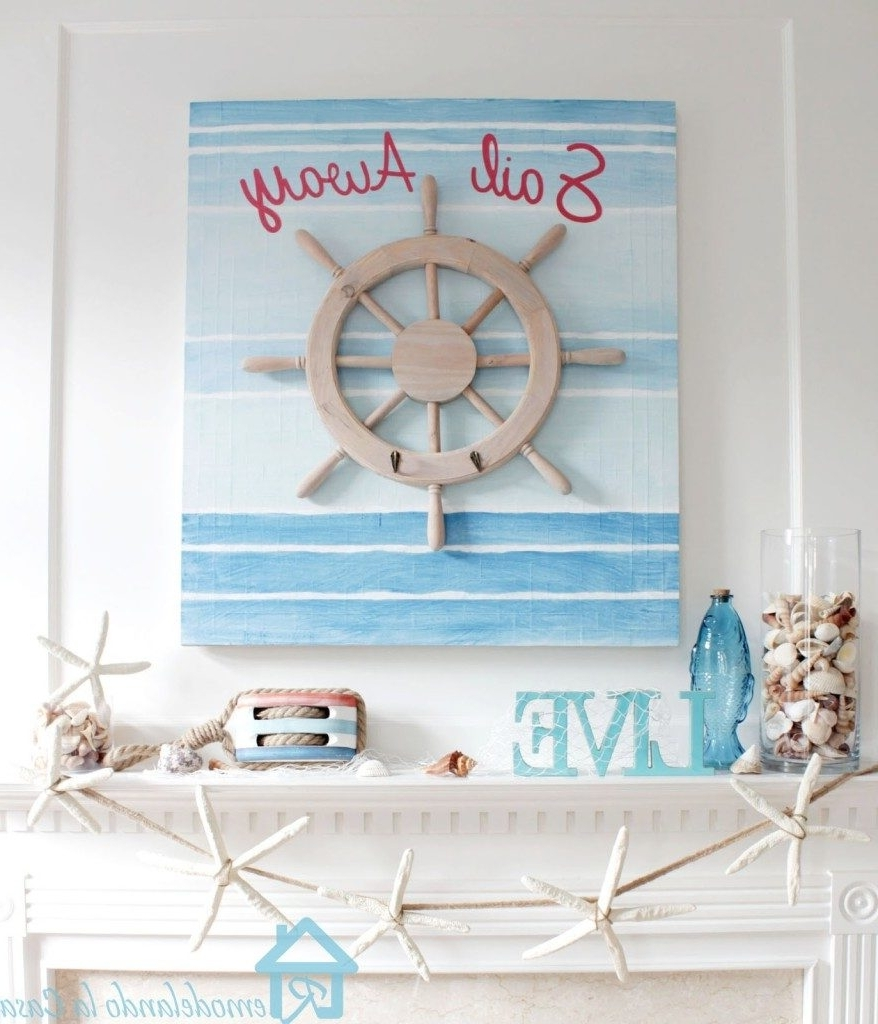 Most Recently Released Wall Art Ideas Design : Lantern Santa Nautical Wall Art Decor Pertaining To Nautical Canvas Wall Art (View 12 of 15)
