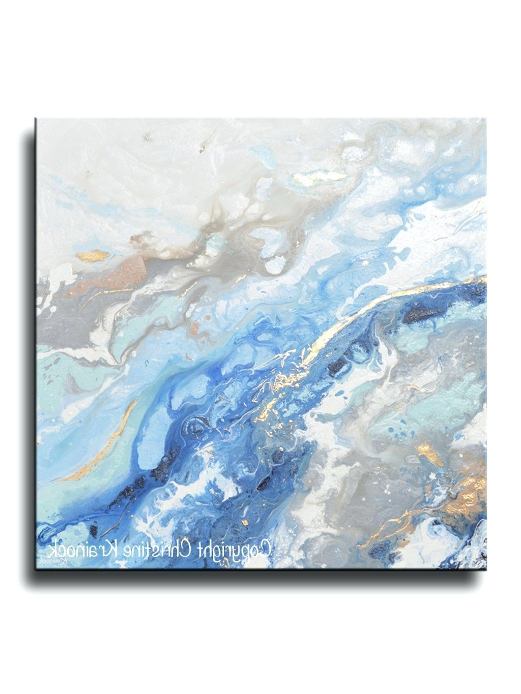 Most Recently Released Wall Arts ~ Giclee Print Art Modern Blue White Abstract Painting For Dark Blue Abstract Wall Art (View 9 of 15)