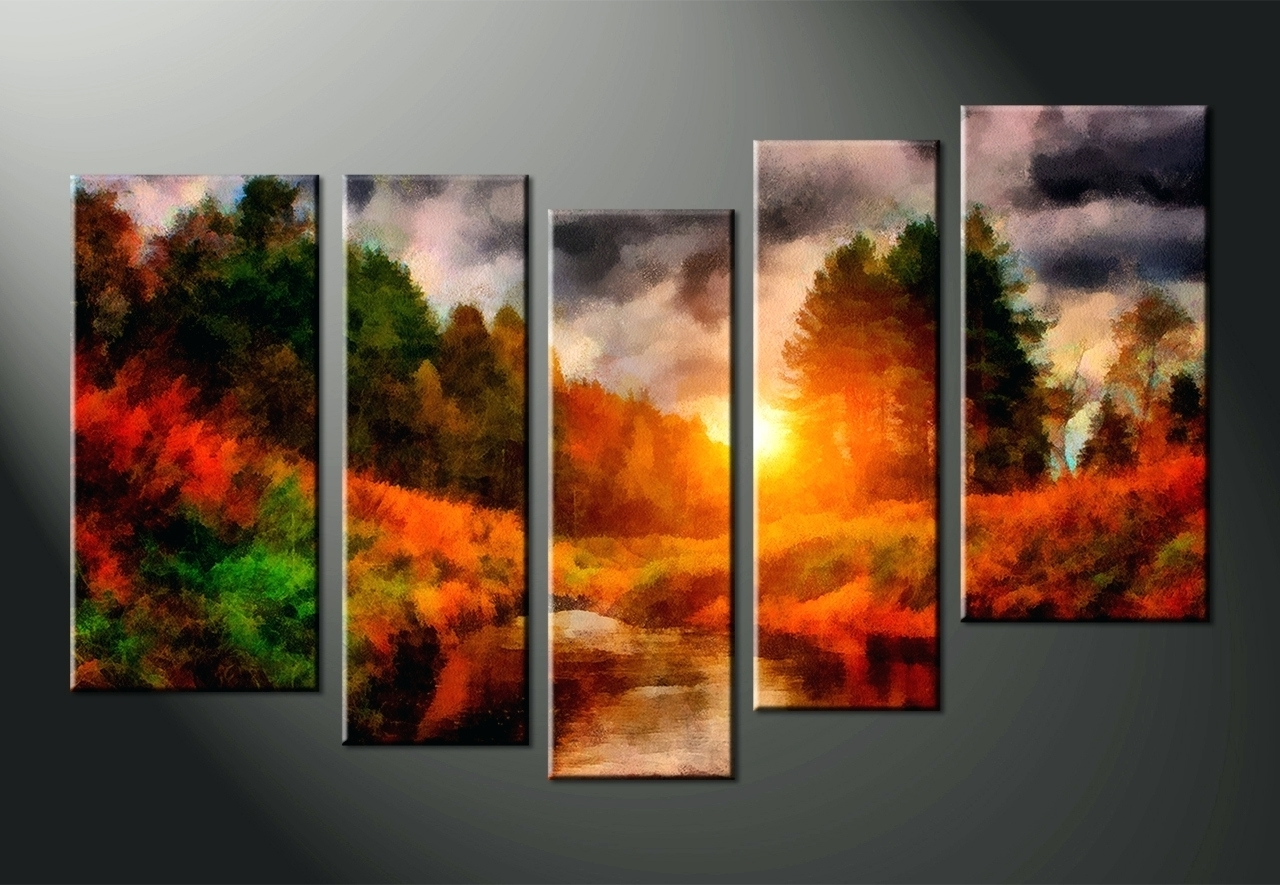 Most Recently Released Wall Arts ~ Multi Canvas Wall Art Picture Print Multi Coloured For Multiple Piece Canvas Wall Art (View 5 of 15)