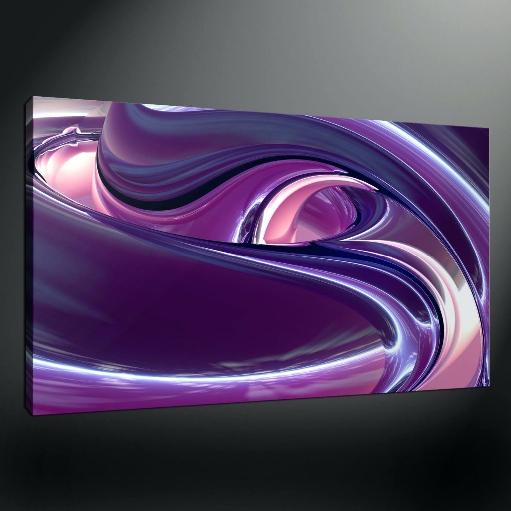 Most Recently Released Wall Arts ~ Purple Flower Canvas Wall Art Purple Canvas Wall Art Intended For Plum Coloured Wall Art (View 5 of 15)