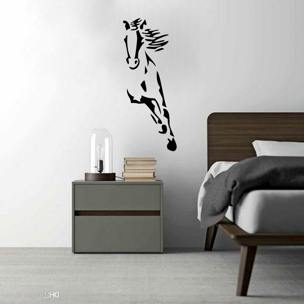 Most Recently Released Wild Running Horse Art Vinyl Wall Sticker Animal Creative Wall Regarding Modern Vinyl Wall Art (View 12 of 15)