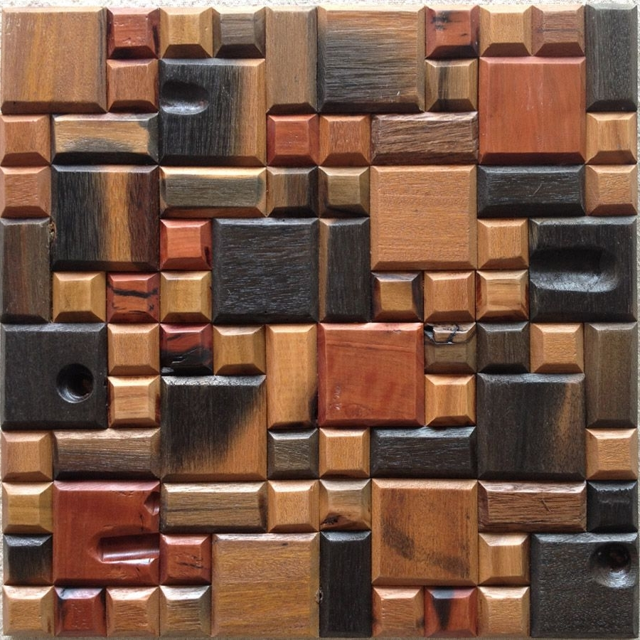 Most Recently Released Wood 3D Wall Art Inside Popular Mosaic Wall Panel From China Best Selling Mosaic Wall (View 8 of 15)