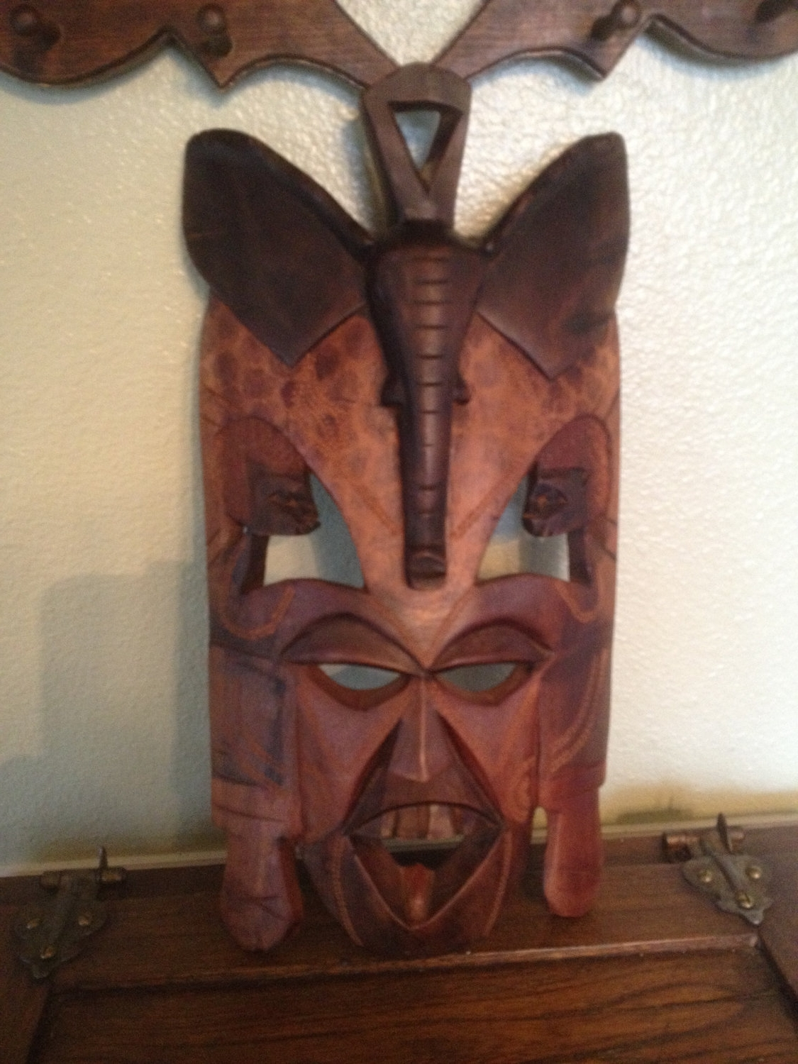Most Recently Released Wooden Tribal Mask Wall Art With Regard To African Masks: Sale Hand Carved Elephant Mask Wall Hanging (View 4 of 15)