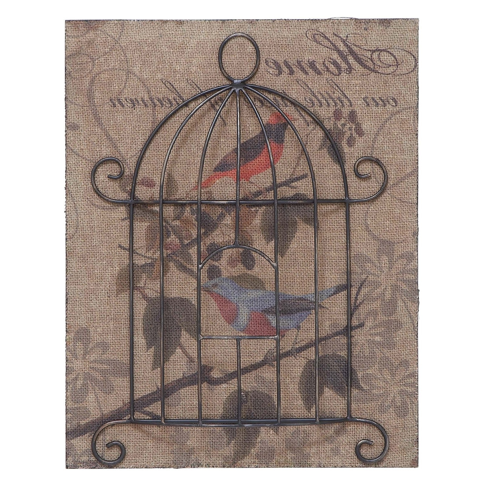 Most Recently Released Woodland Imports Metal Birdcage Wall Art – 16w X 20h In (View 12 of 15)