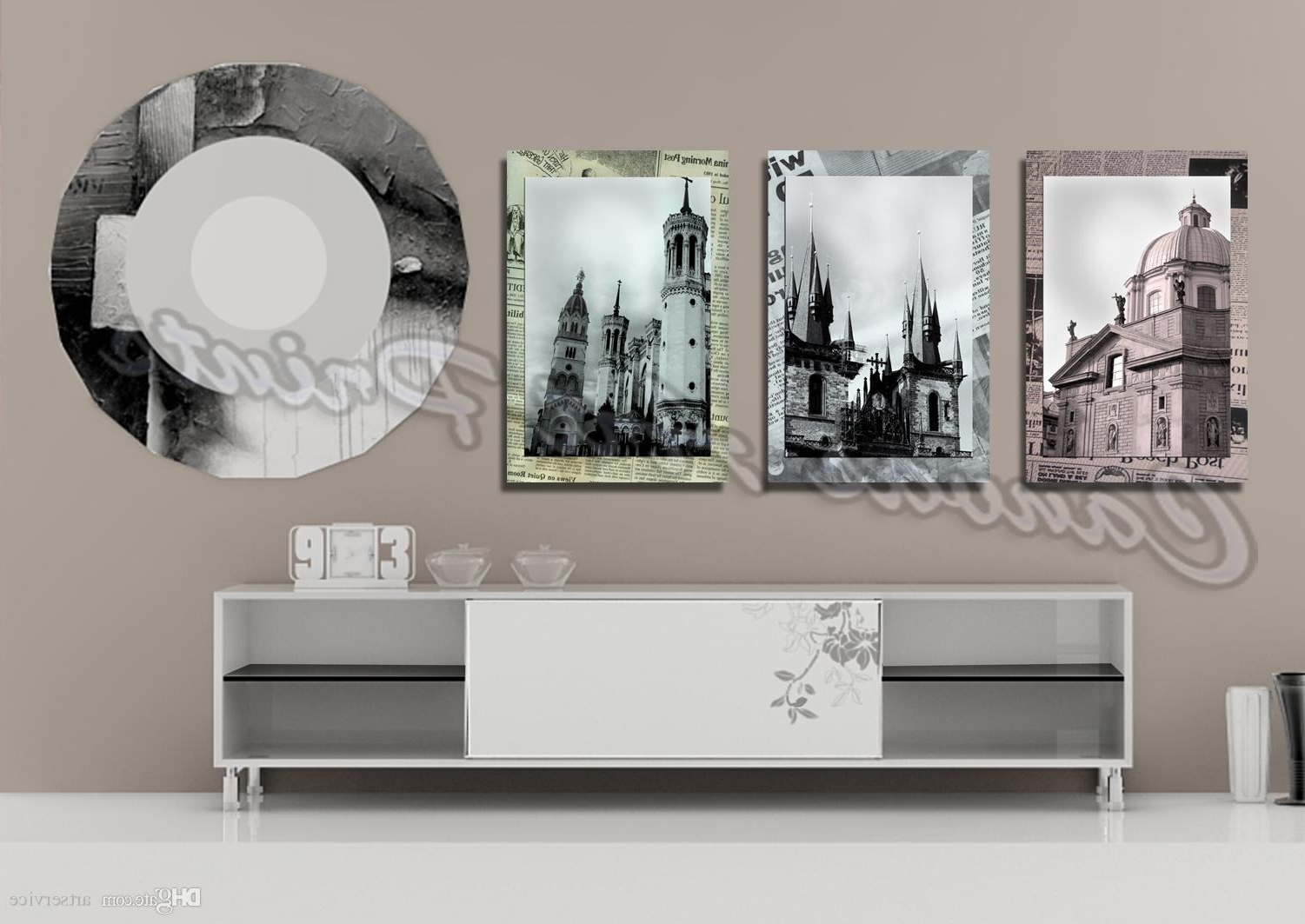 Most Up To Date 2018 Cheap Large Framed Art Home Decor Wall Paintings 3 Panel Wall With Large Framed Wall Art (View 7 of 15)