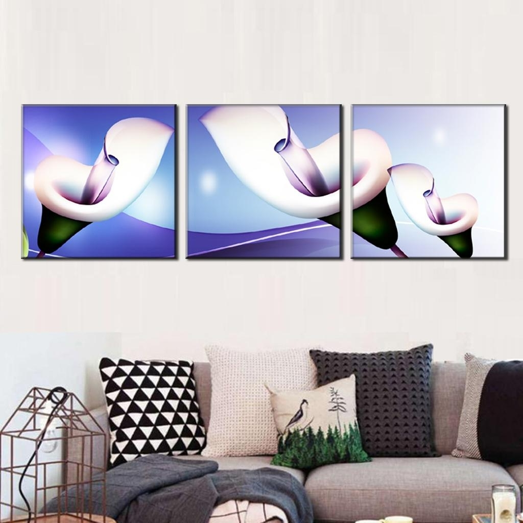 Most Up To Date 3 Pcs/set Abstract Canvas Wall Art Paintings With Frame Glass Throughout Glass Abstract Wall Art (View 14 of 15)