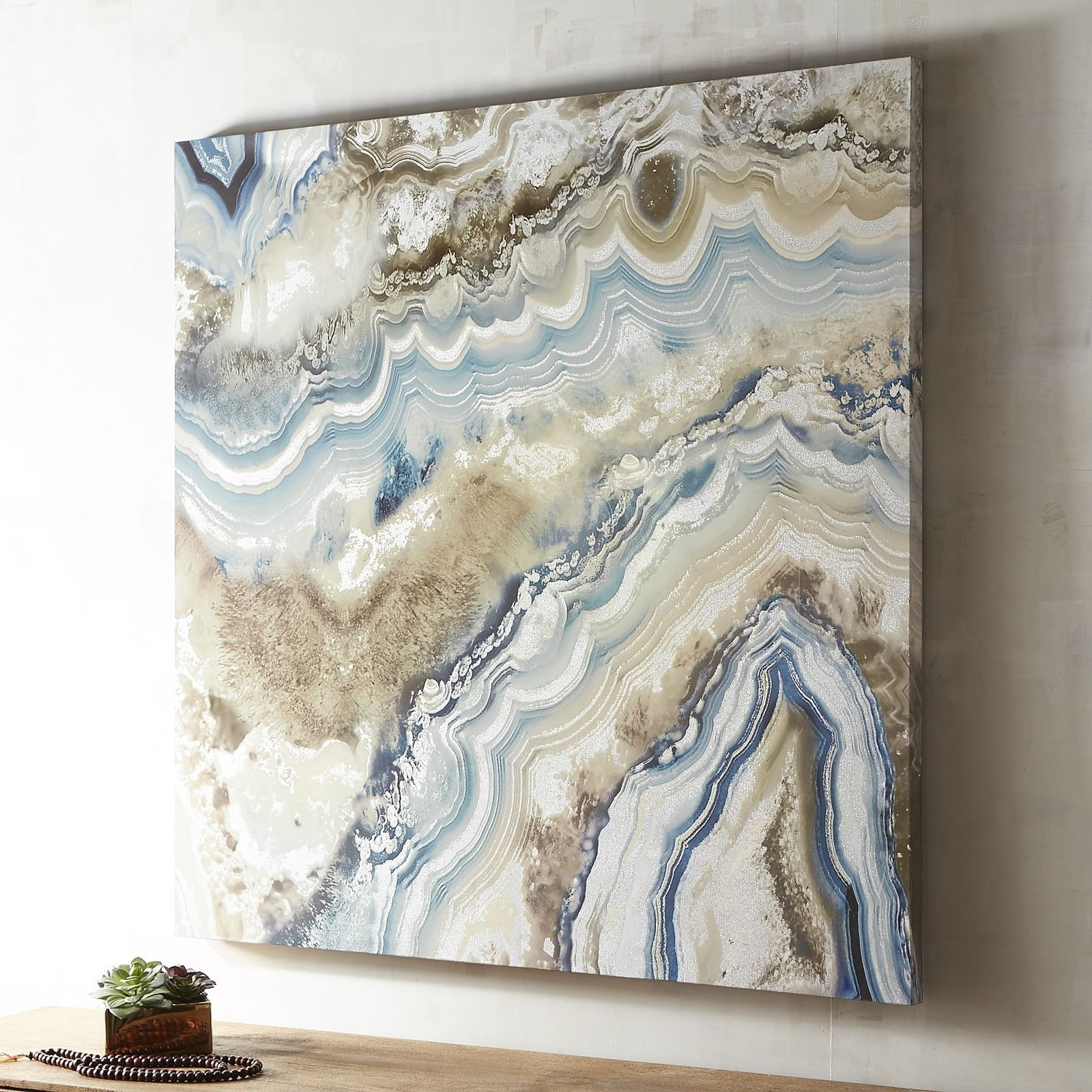 Most Up To Date Agate Stones Are Characterizedthe Fineness Of Their Grain And Inside Blue Canvas Abstract Wall Art (View 9 of 15)