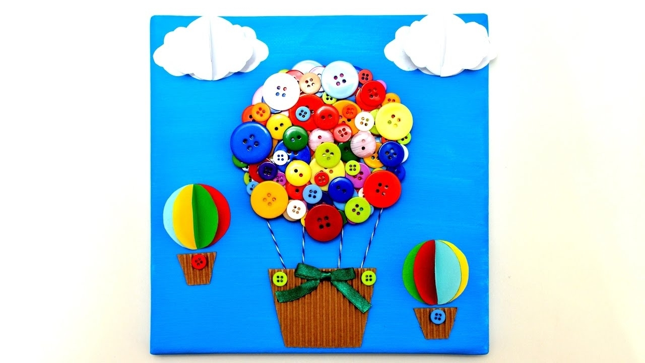 Most Up To Date Air Balloon 3d Wall Art Intended For Air Balloon 3d Canvas Art Craft – Diy Handmade Wall Room Decor (View 3 of 15)