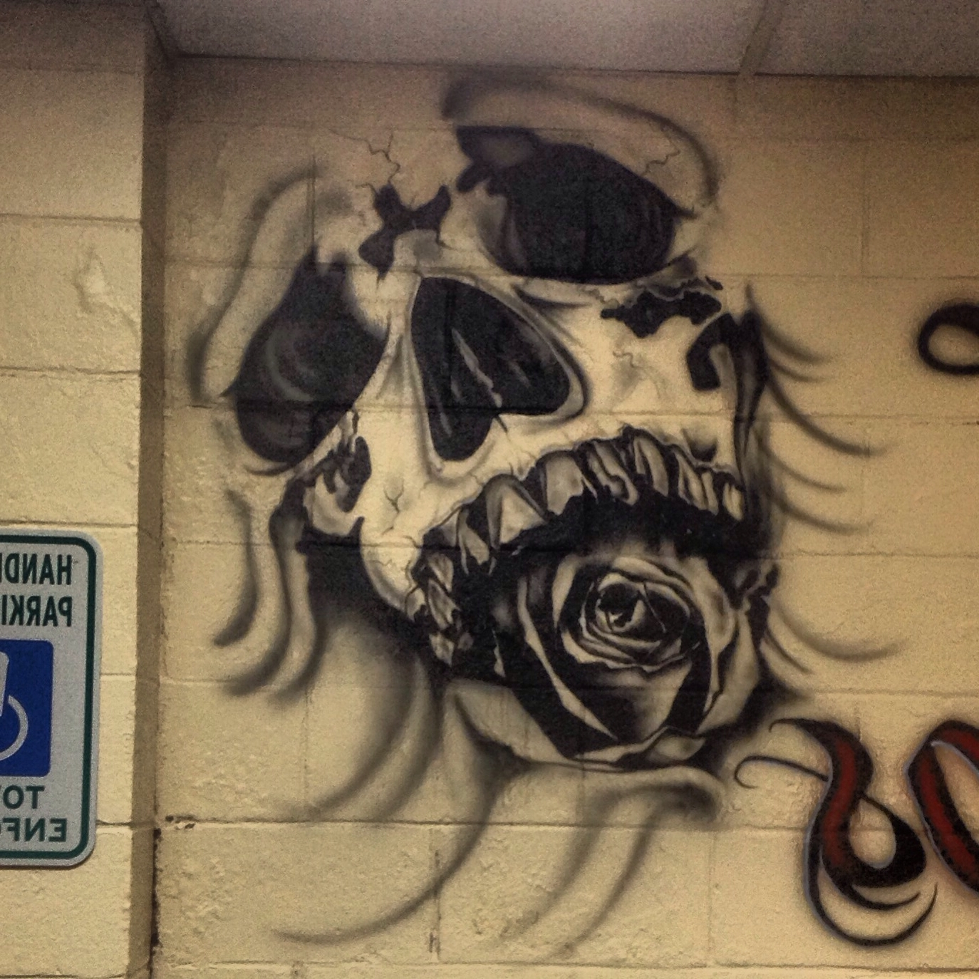Most Up To Date Airbrush Wall Art Regarding Skull Custom Airbrush Just Learning Love It Black And Grey Wall (View 9 of 15)