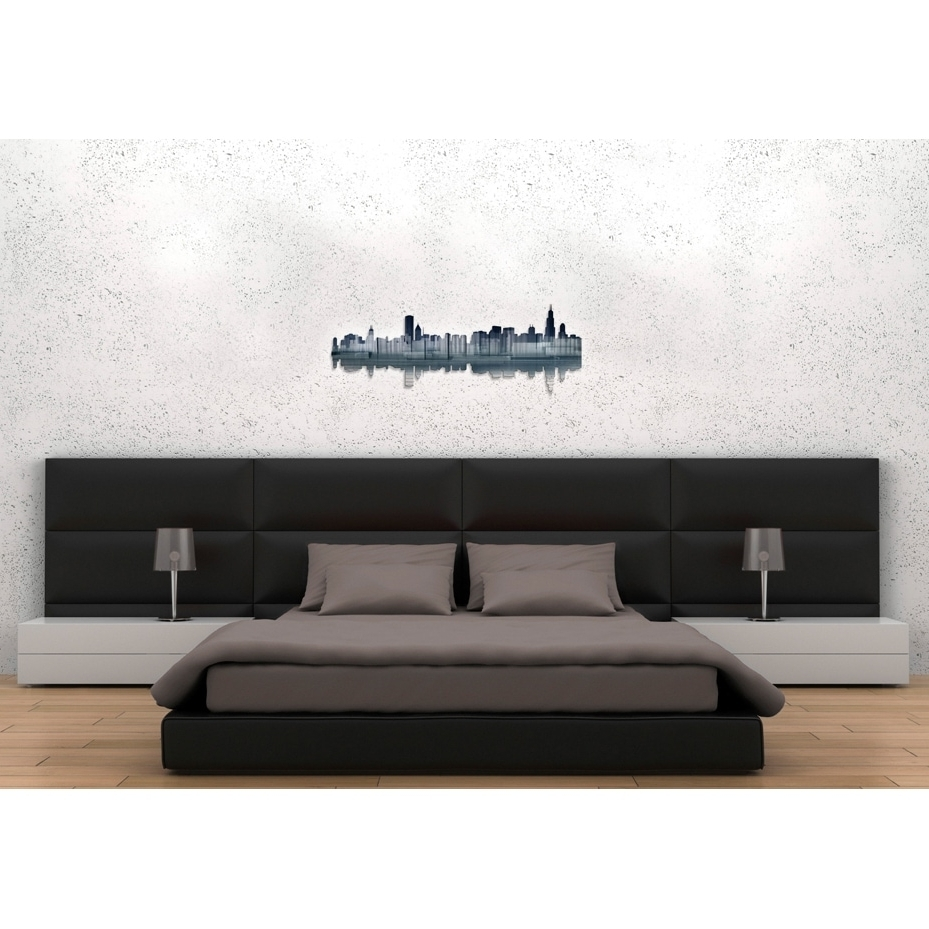Most Up To Date Ash Carl Metal Wall Art Throughout Ash Carl 'chicago Reflection' Metal Wall Art – Free Shipping Today (View 12 of 15)