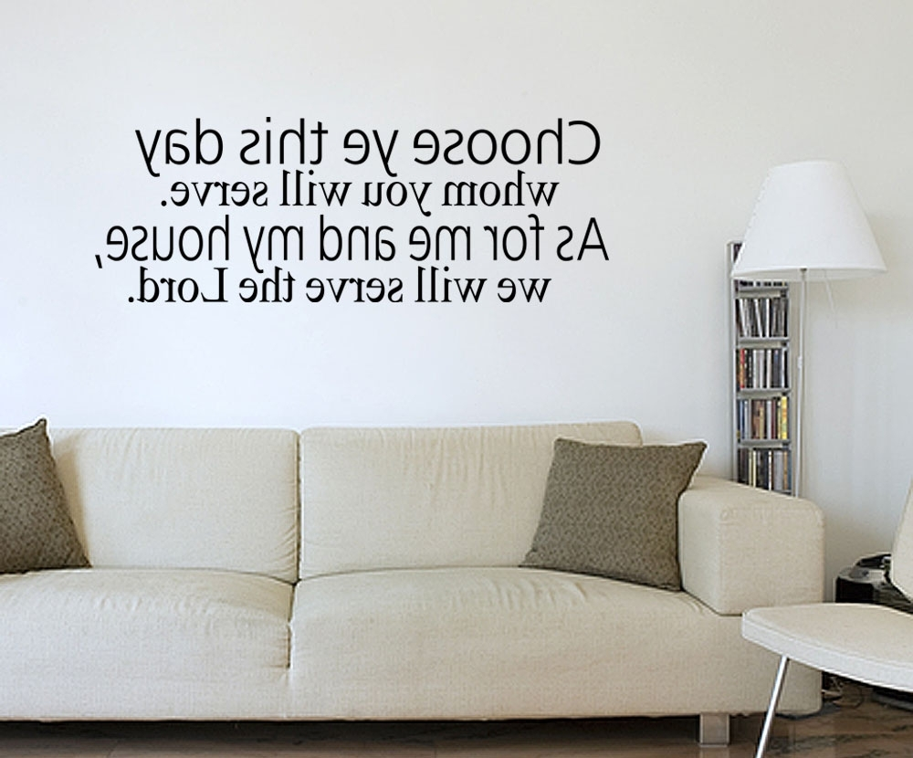 Most Up To Date Biblical Wall Art Pertaining To Best Bible Verse Wall Decals – Home Design # (View 8 of 15)