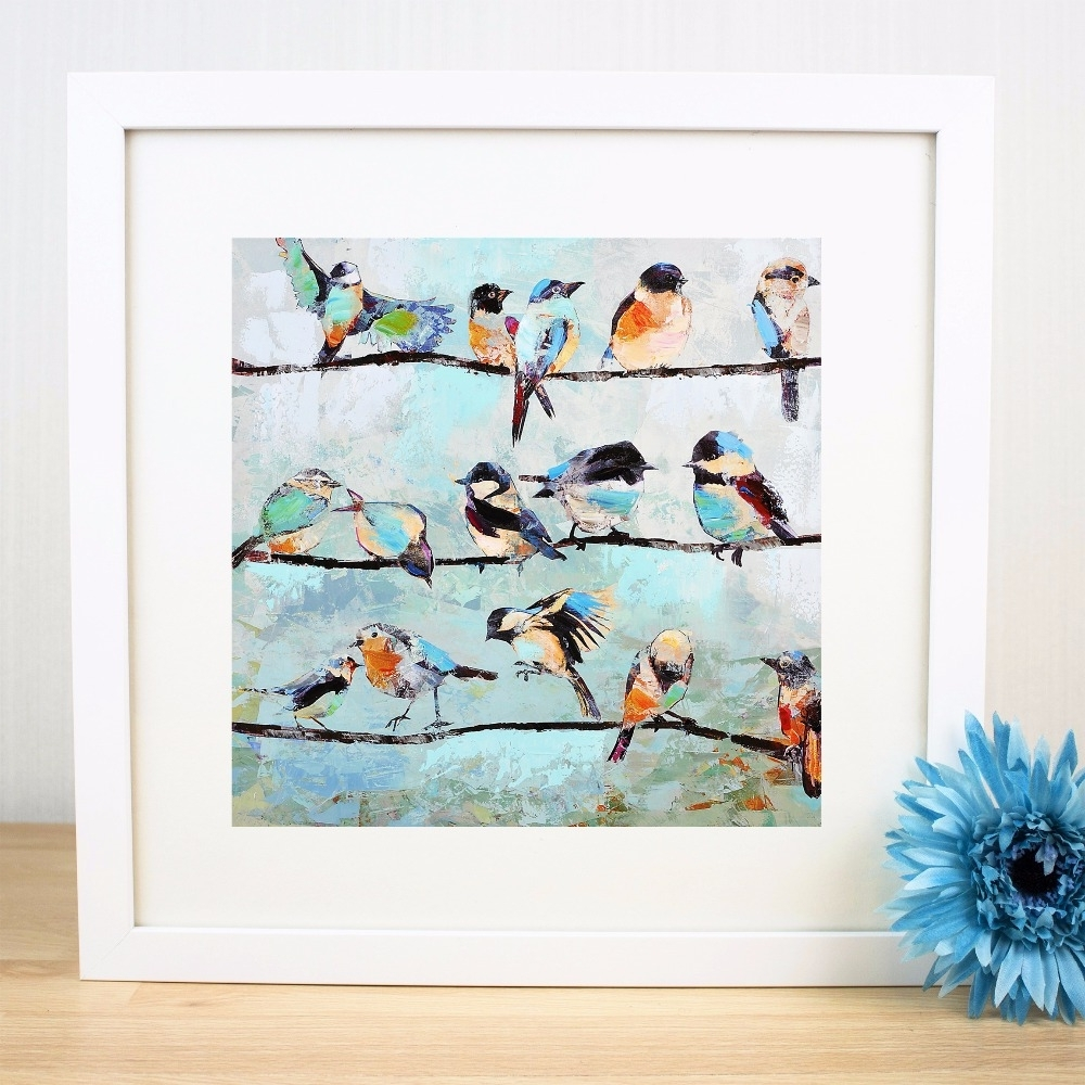 Most Up To Date Birds On A Wire Artwork Canvas Art Print Painting Poster Wall Within Birds On A Wire Wall Art (View 10 of 15)