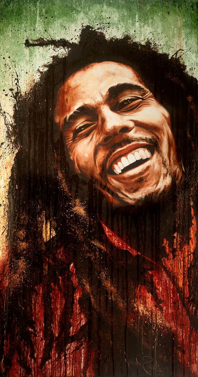 "Most Up To Date Bob Marley Canvas Wall Art For Oil On Canvas Paintingdesotogi Of Bob Marley Entitled ""one (View 10 of 15)"