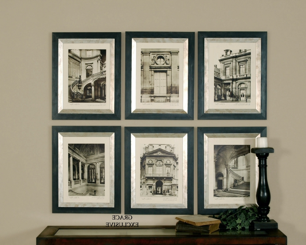 Most Up To Date Cheap Wall Art Sets Intended For Wall Art Designs: Framed Wall Art Uttermost Paris Scene Framed Art (Gallery 13 of 15)