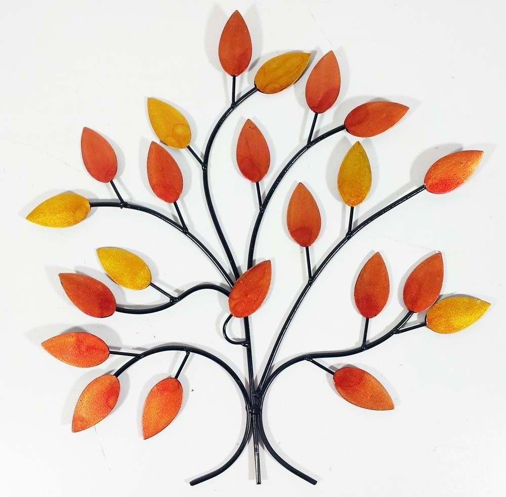 Most Up To Date Contemporary Metal Wall Art Decor Sculpture – Golden Autumn Tree Regarding Windy Oak Tree Metal Wall Art (View 9 of 15)