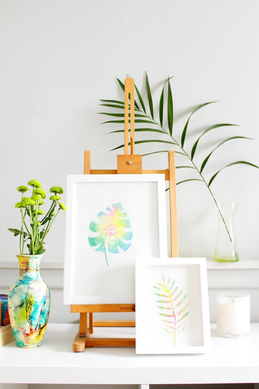 Most Up To Date Create This Anthropologie Watercolor Wall Art For Half The Price Intended For Diy Watercolor Wall Art (View 11 of 15)