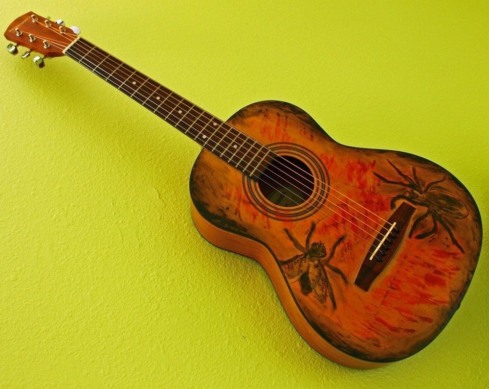 Attractive Metal Wall Art Guitar Vignette - Wall Art Collections ...