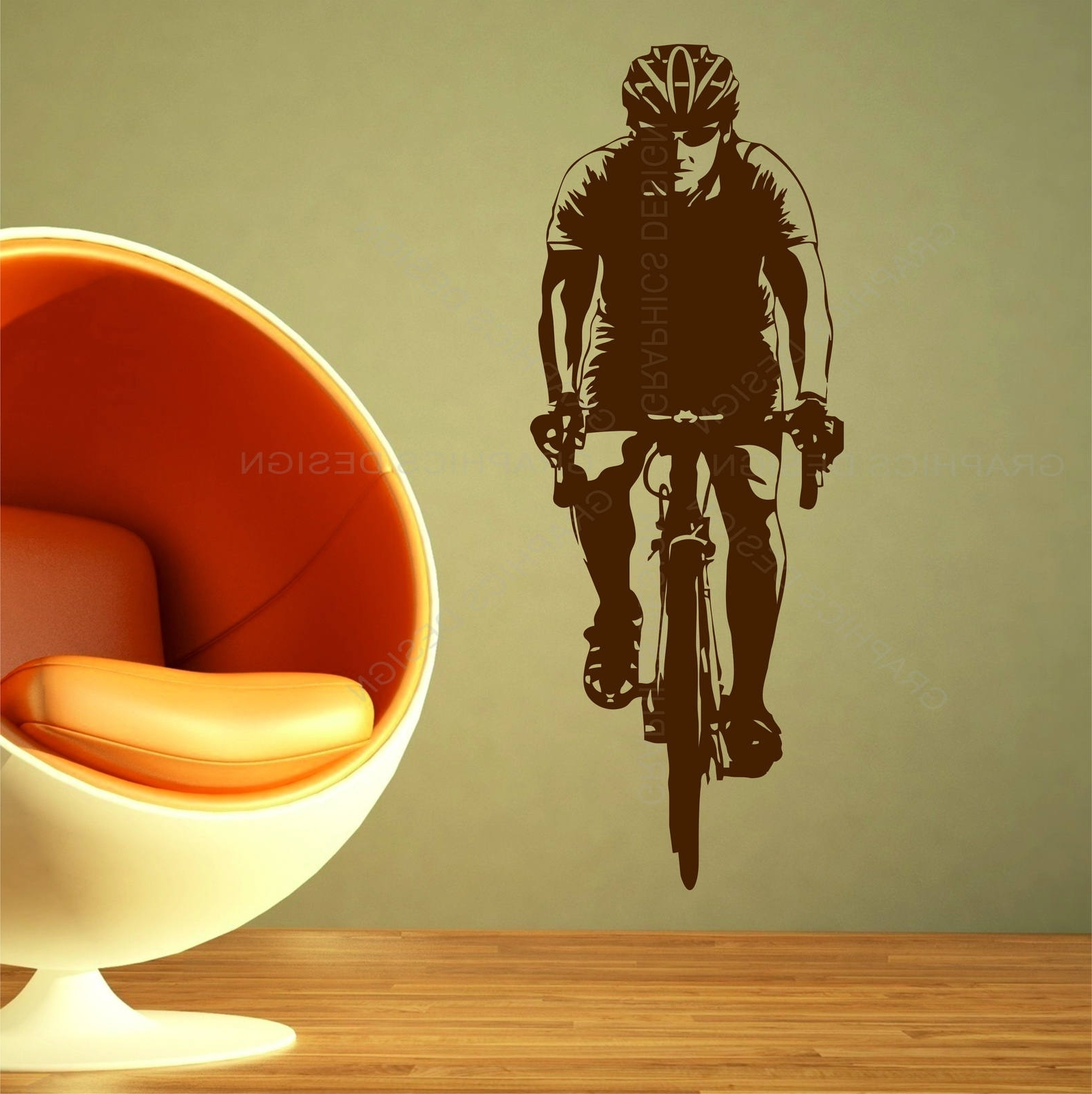 Most Up To Date Cycling Wall Art For Bike Cyclist Bicycling Sports Gym Wall Art Stickers Decals Vinyl  (View 11 of 15)