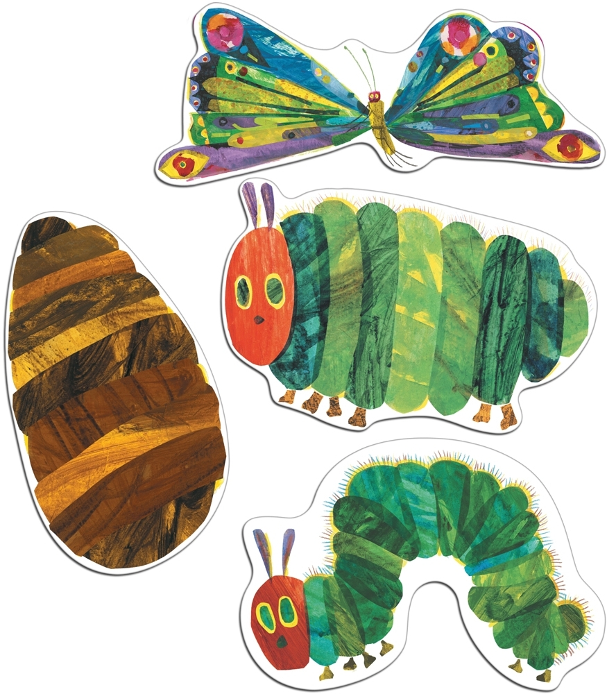 Most Up To Date Eric Carle Wall Art Regarding Very Hungry Caterpillar Cut Out Decorations (View 11 of 15)