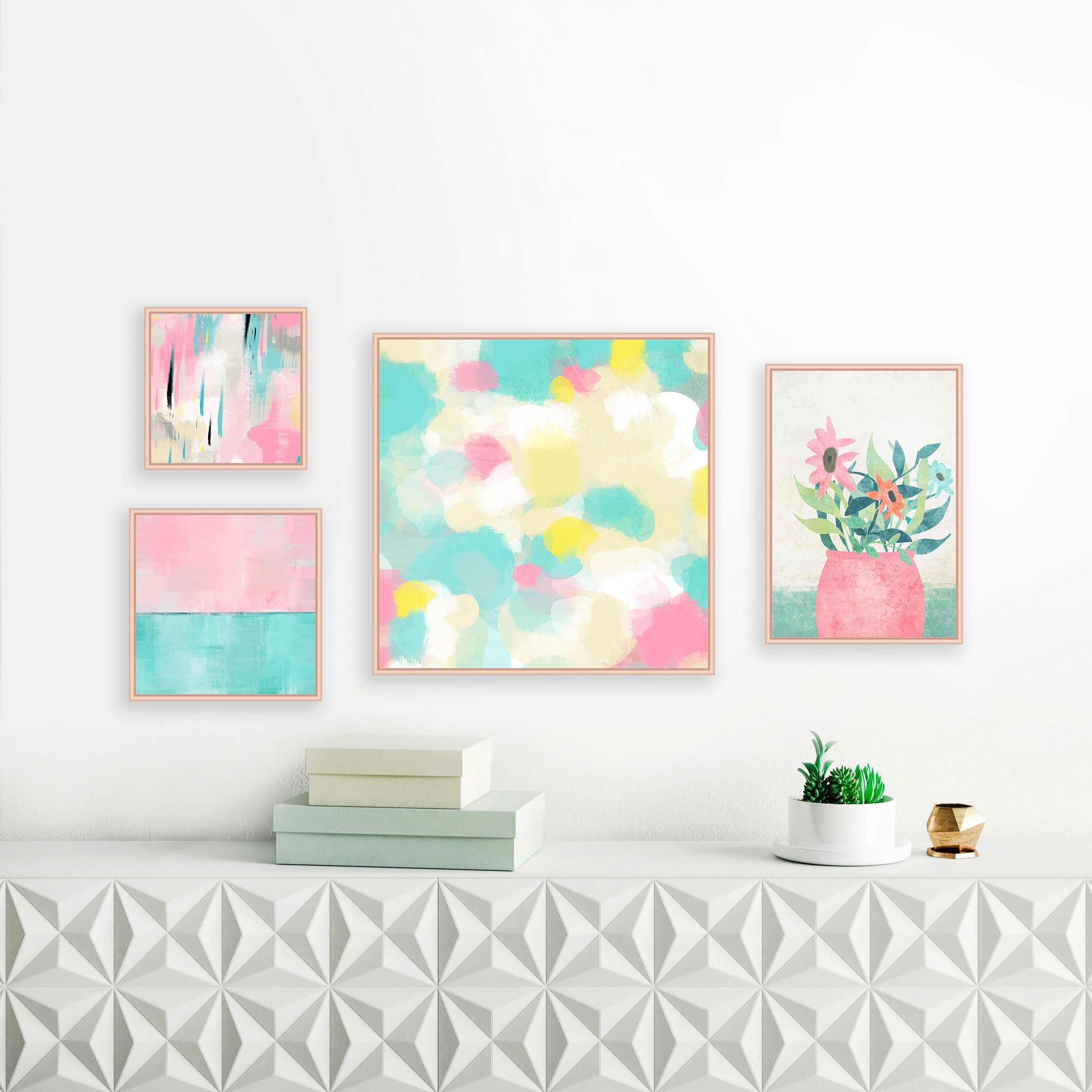 Featured Photo of Pastel Abstract Wall Art