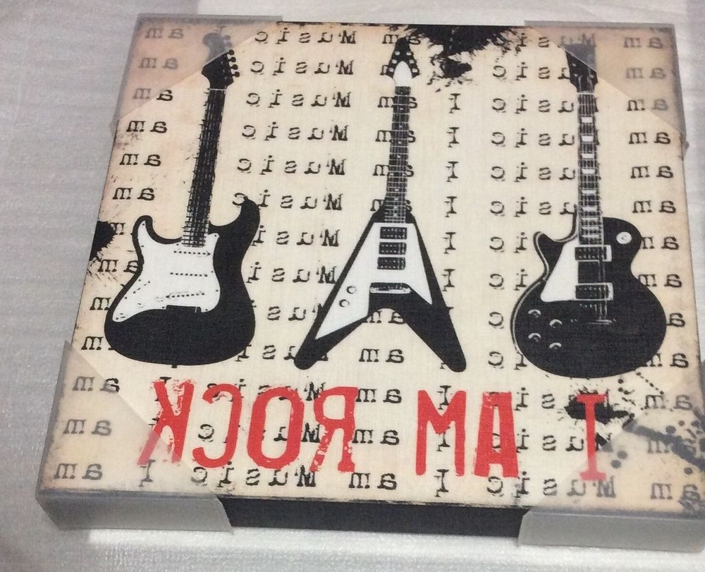 Most Up To Date Guitar Canvas Wall Art Within I Am Music Rock Guitar Canvas Wall Art Picture 12 In (View 11 of 15)