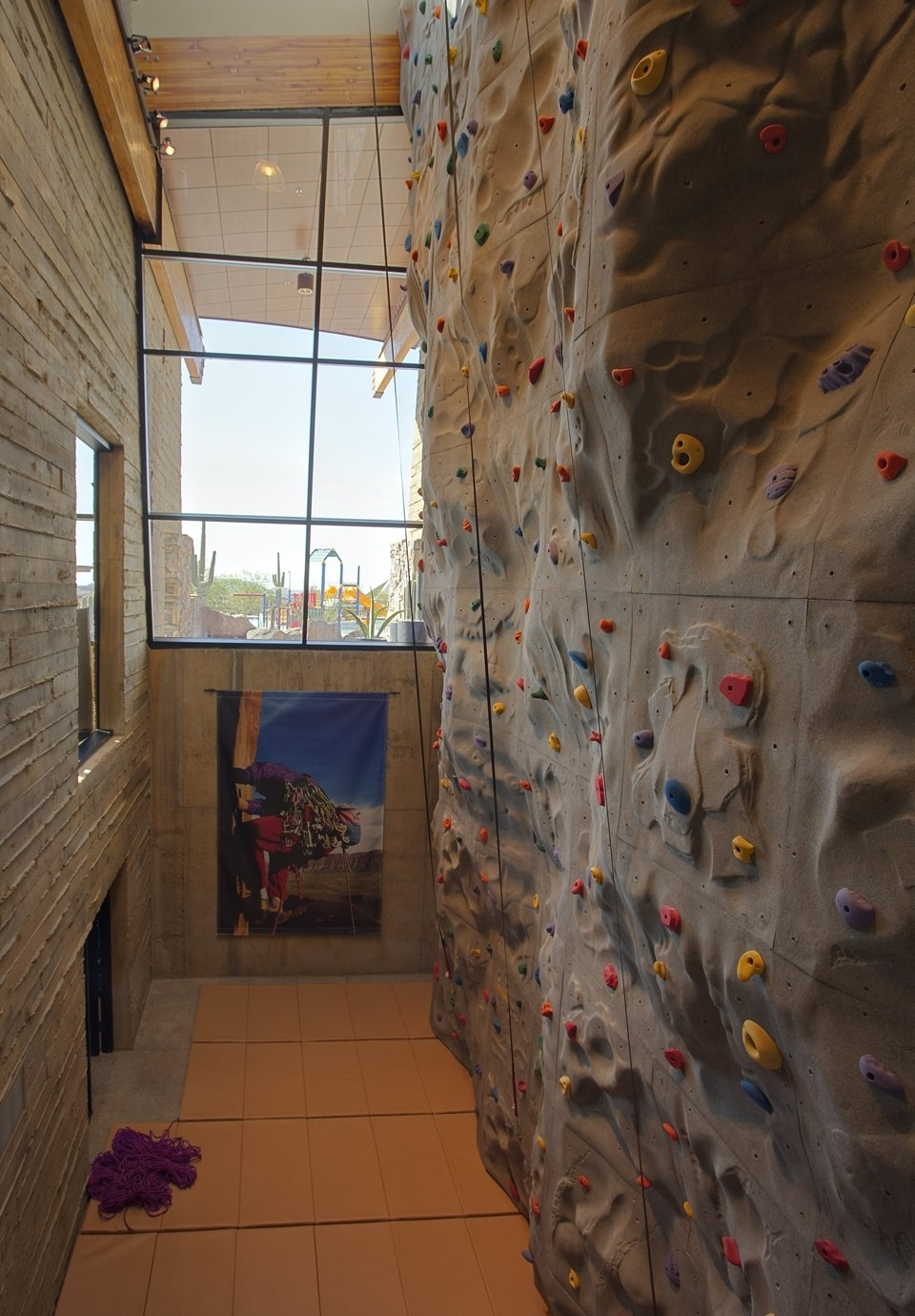 Most Up To Date Home Bouldering Wall Design Within Diy Home Bouldering Wall Youtube Modern Home Rock Climbing Wall (View 12 of 15)