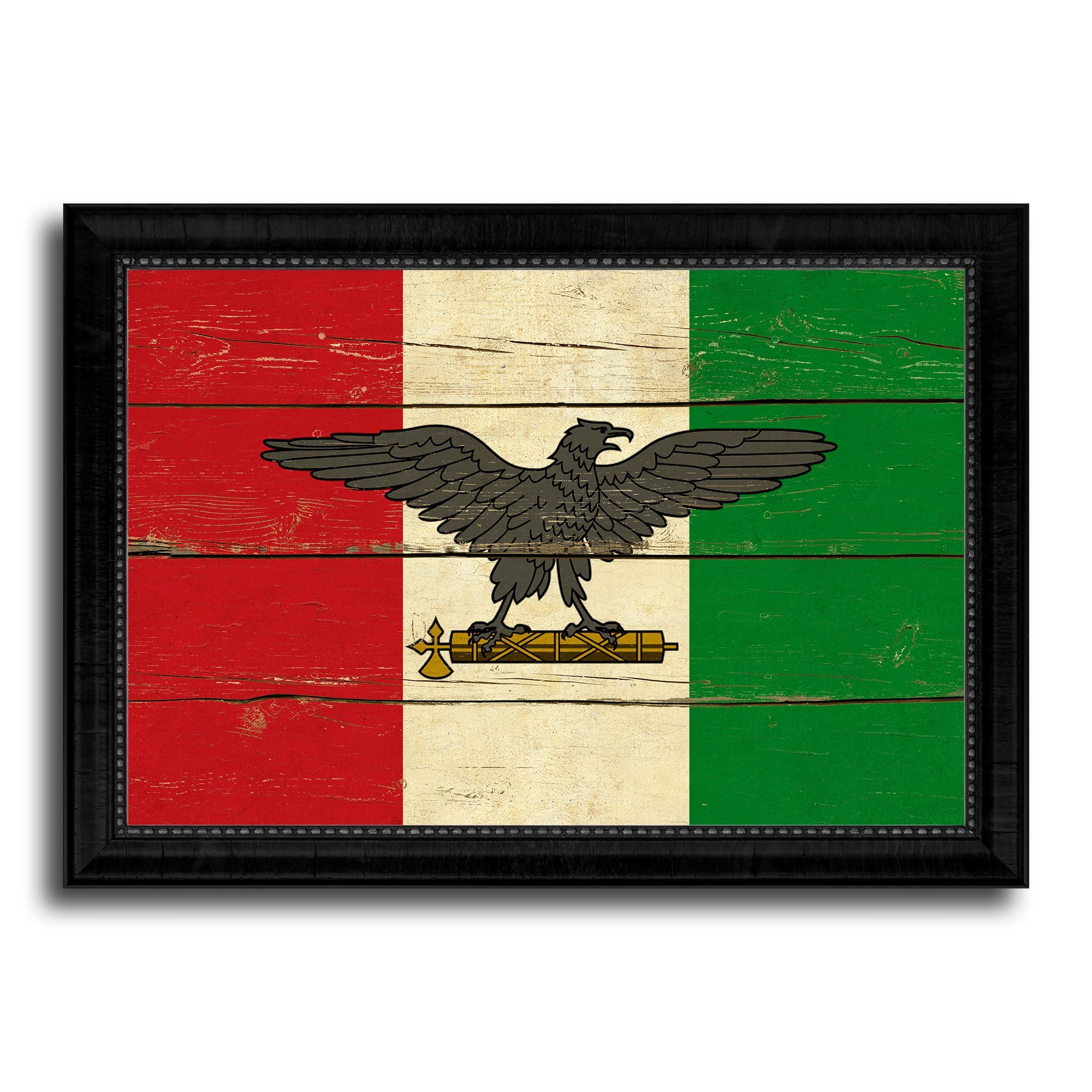 Most Up To Date Italian Flag Wall Art With Italy War Eagle Italian Military Military Flag Vintage Canvas (View 11 of 15)