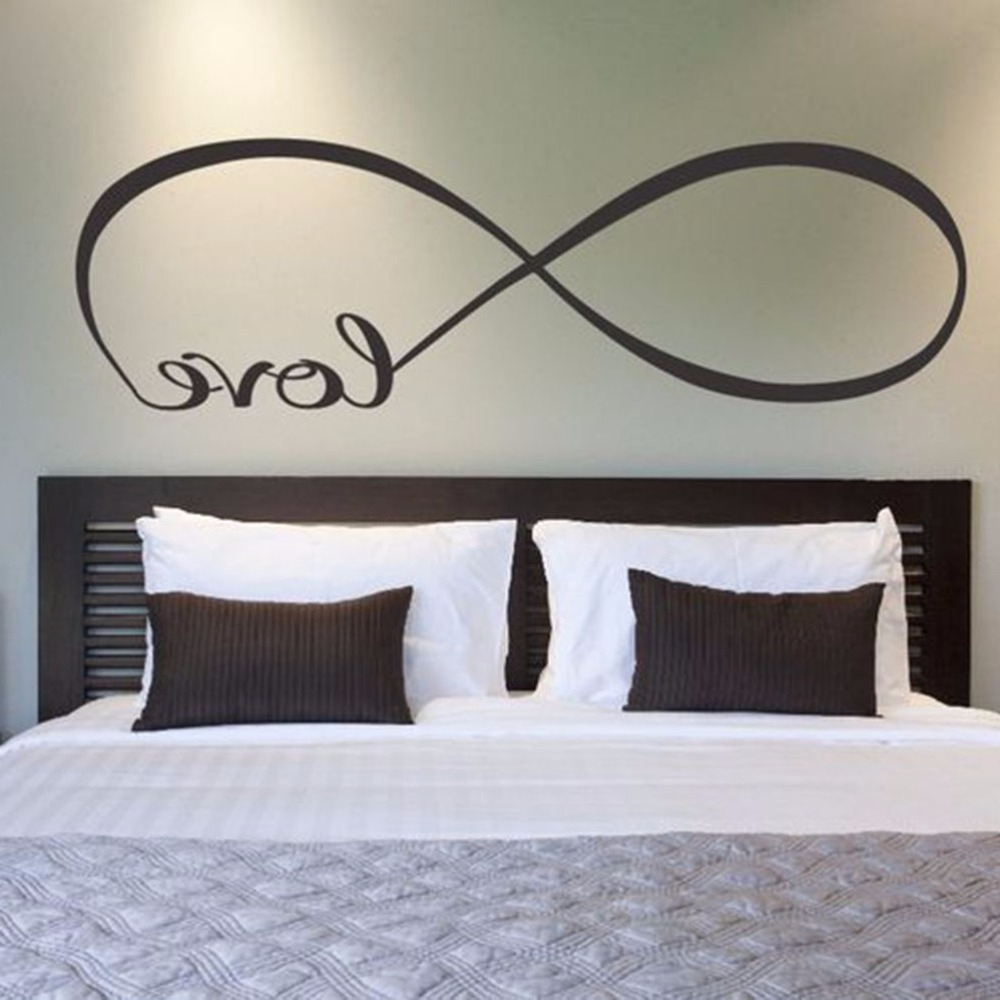 Most Up To Date Kohls Wall Decals With Regard To 1pc Bedroom Wall Stickers Decor Infinity Symbol Word Love Vinyl (View 13 of 15)