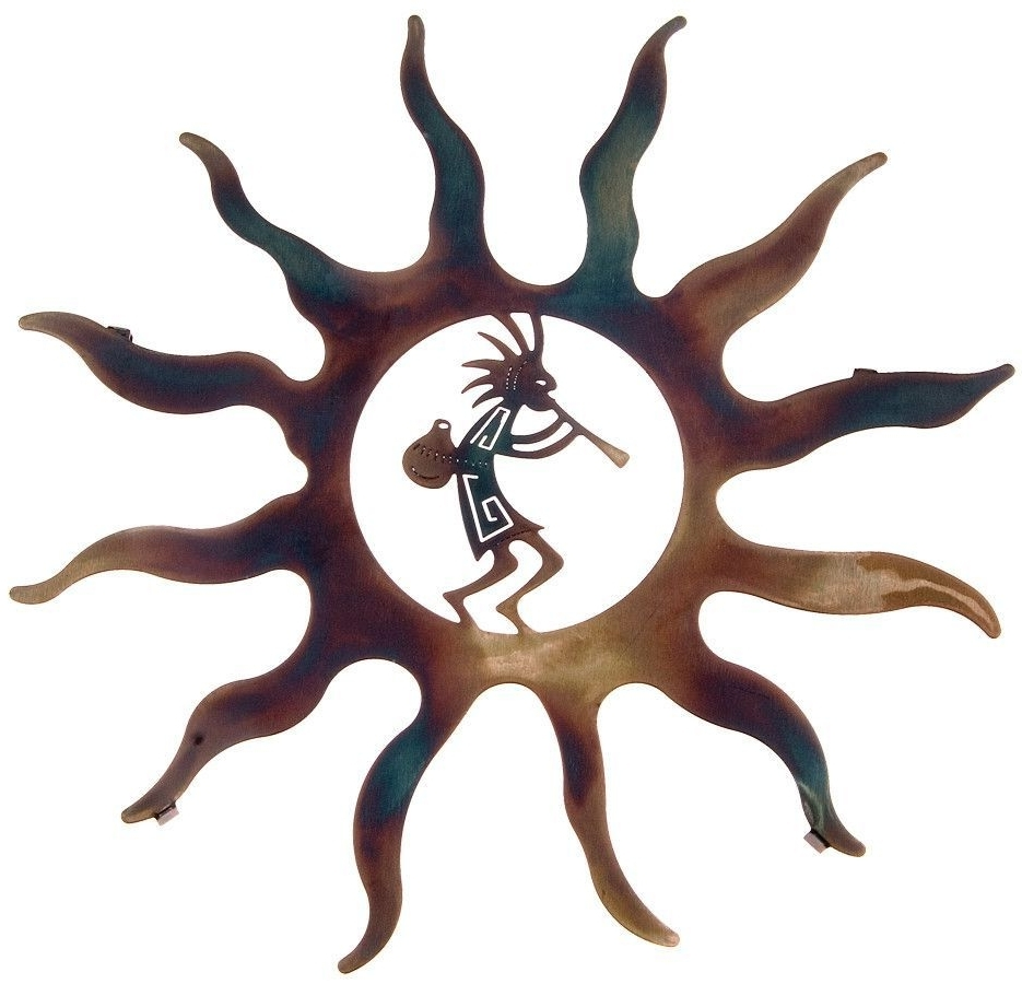 Most Up To Date Kokopelli Metal Wall Art With Regard To Kokopelli And Sun Rays Metal Wall Art, Style  (View 14 of 15)