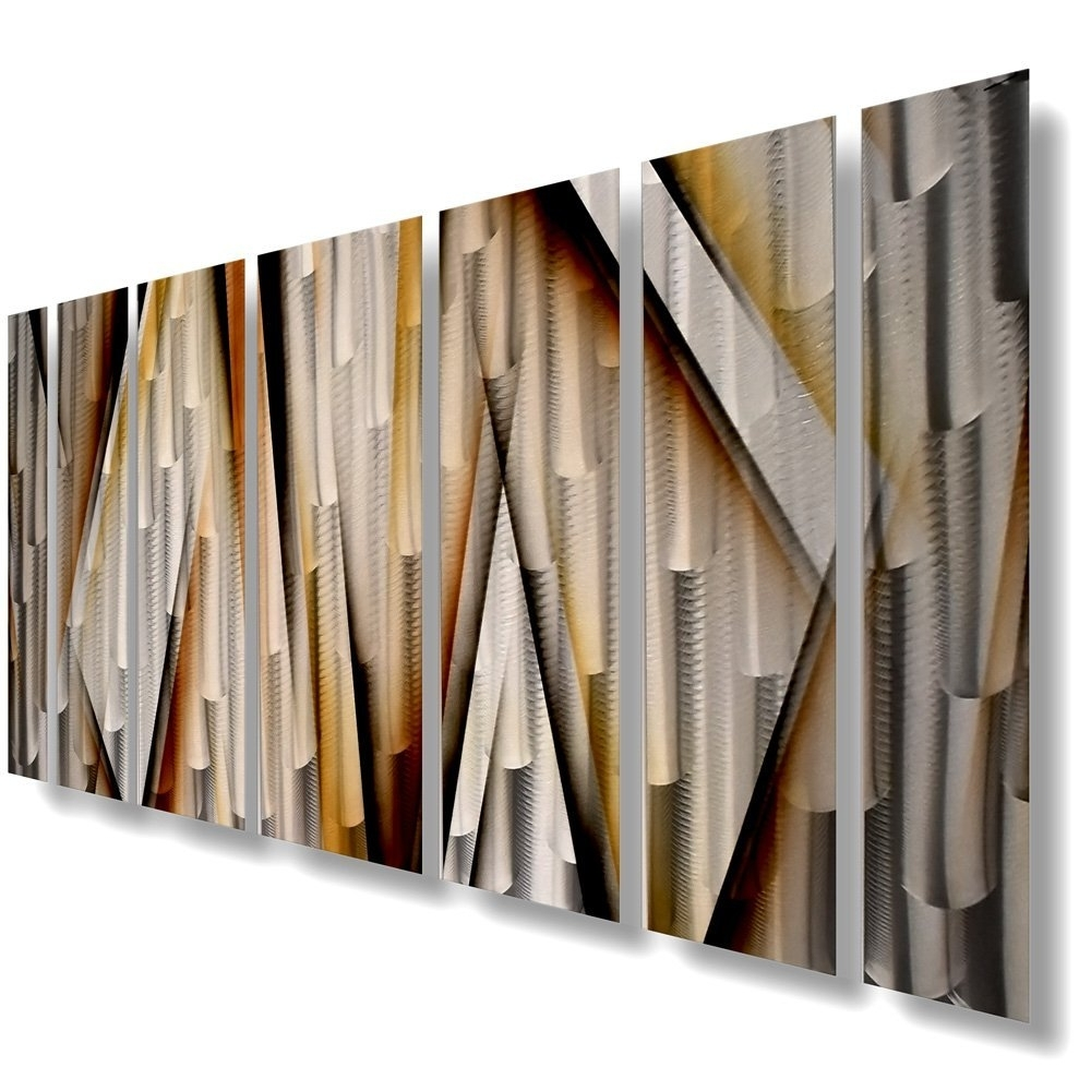 Most Up To Date Large Copper Wall Art Within Amazon: Modern Contemporary Abstract Large Metal Wall (View 7 of 15)