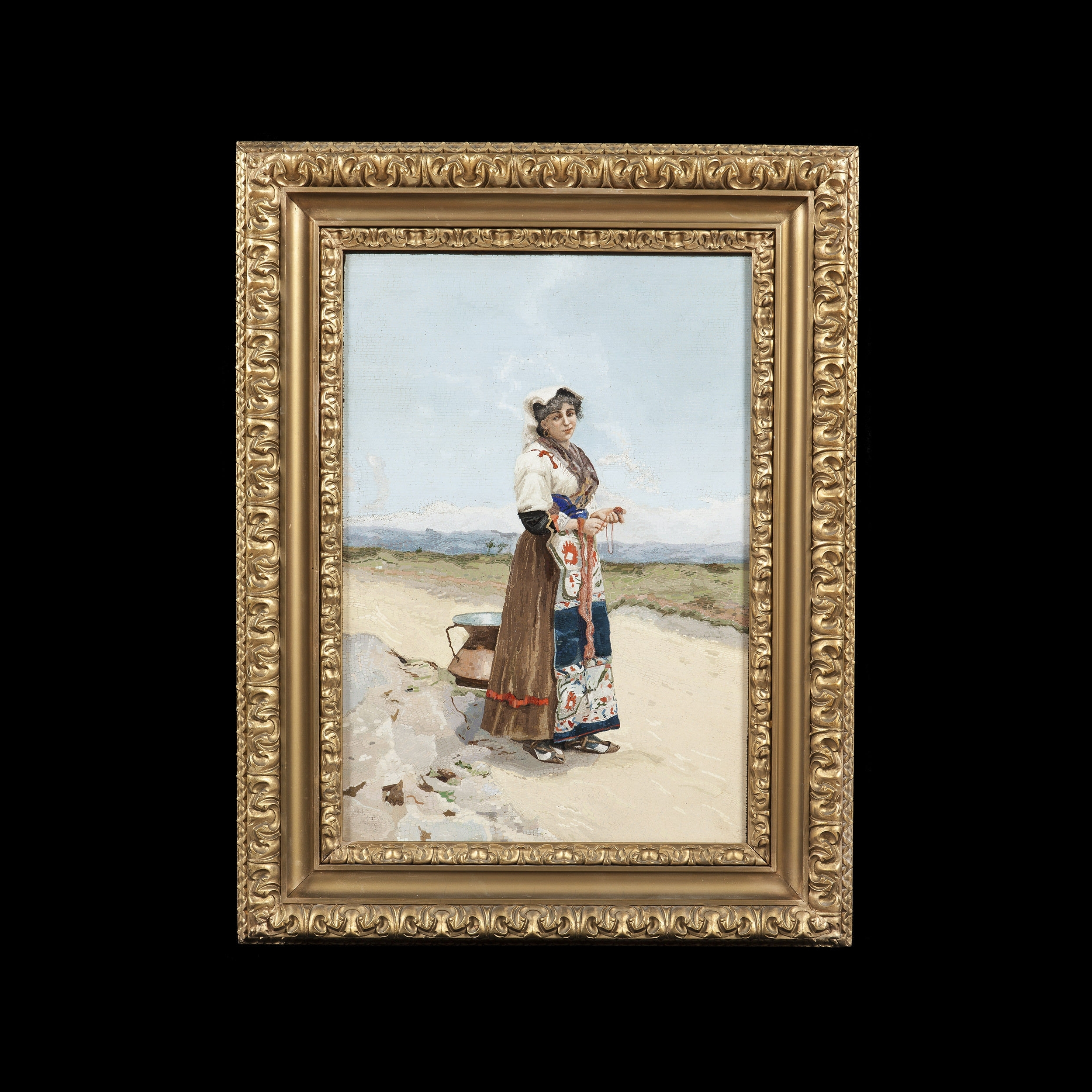 Most Up To Date Large Italian Wall Art Inside Pair Of Large Italian Wall Art Micromosaic Plaques (C (View 10 of 15)