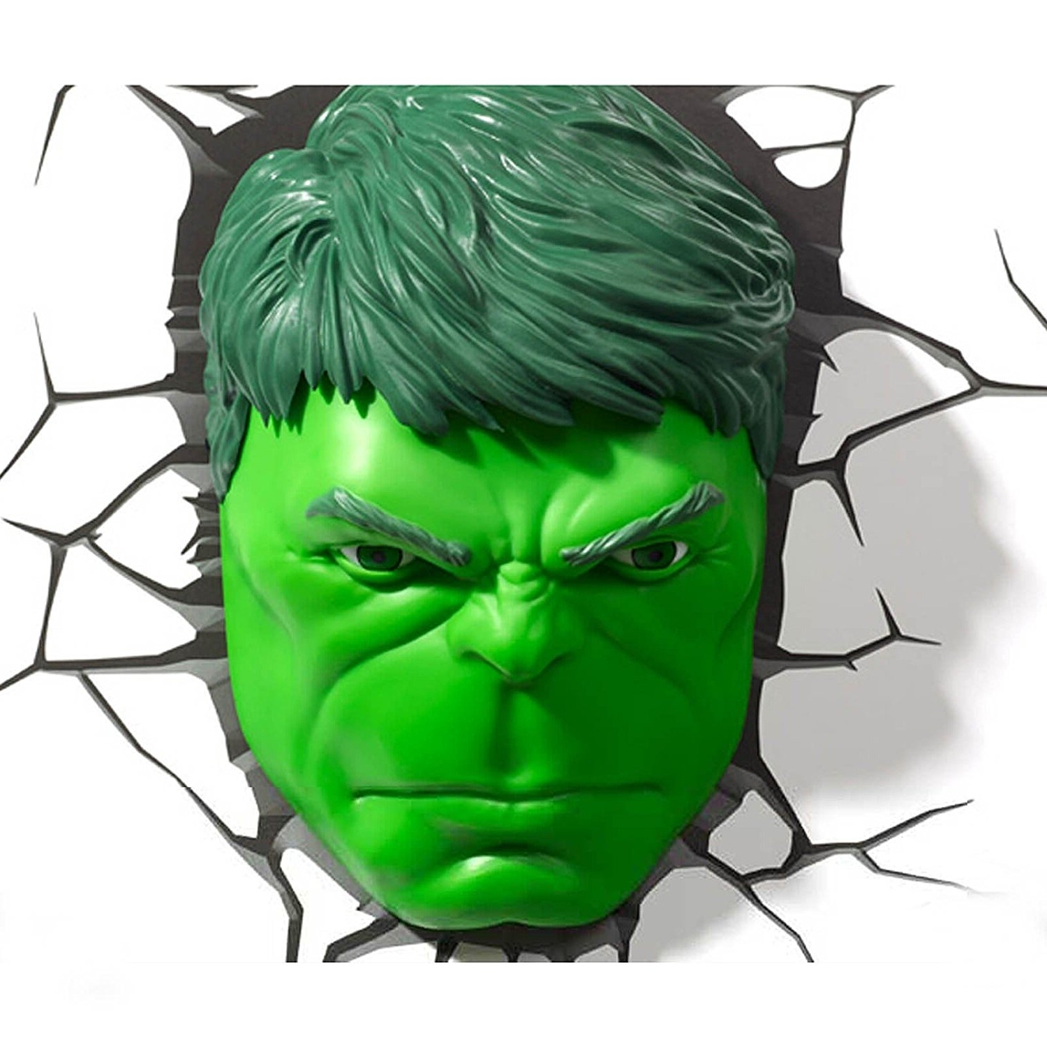 Most Up To Date Marvel Avengers Hulk Head 3D Deco Wall Led Night Light Art Fx Room Throughout Hulk Hand 3D Wall Art (View 11 of 15)
