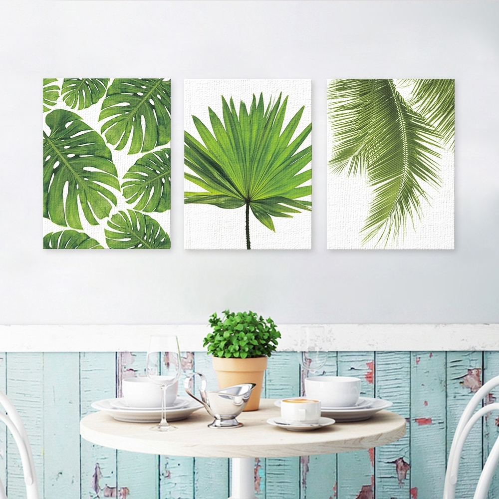 Most Up To Date Palm Leaf Wall Decor Intended For Funlife Palm Leaf Canvas Poster Prints Tropical Plant On Canvas (View 8 of 15)