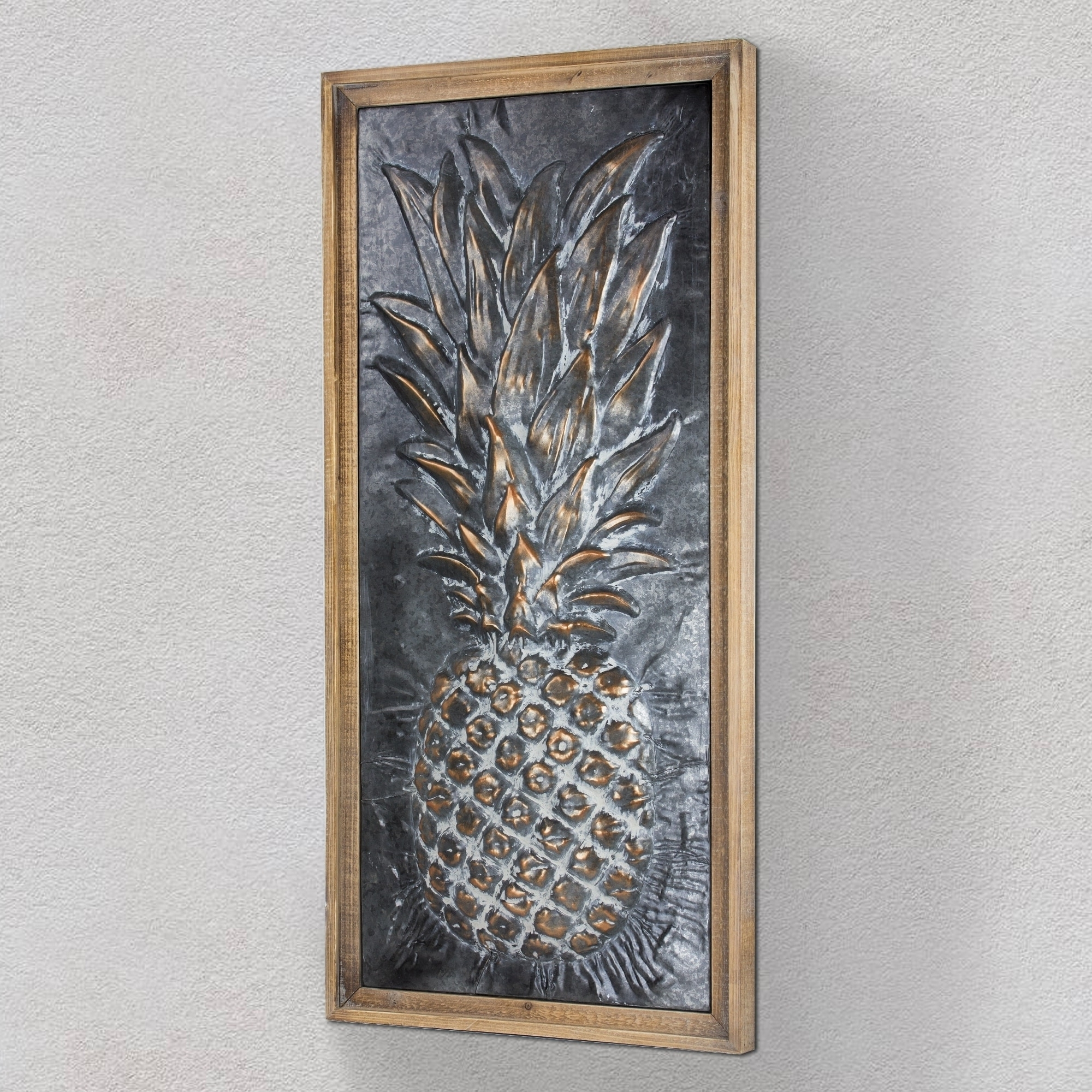 Most Up To Date Pineapple Metal Wall Art Within Metal Pineapple Wall Art – Free Shipping Today – Overstock (View 9 of 15)