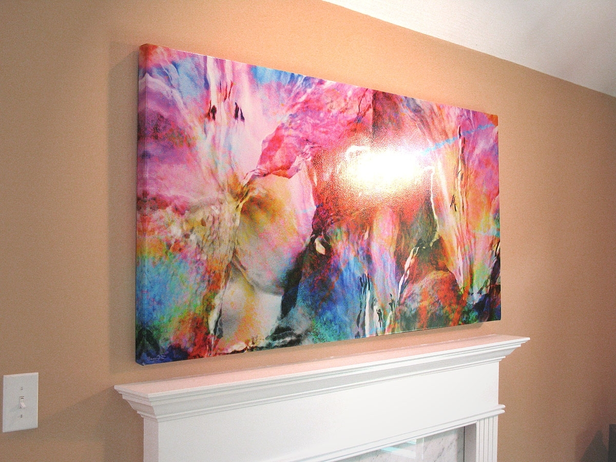 Most Up To Date Pink Abstract Wall Art Throughout Abstract Flower Art Large Canvas Painting Floralcianelli Studios (View 10 of 15)