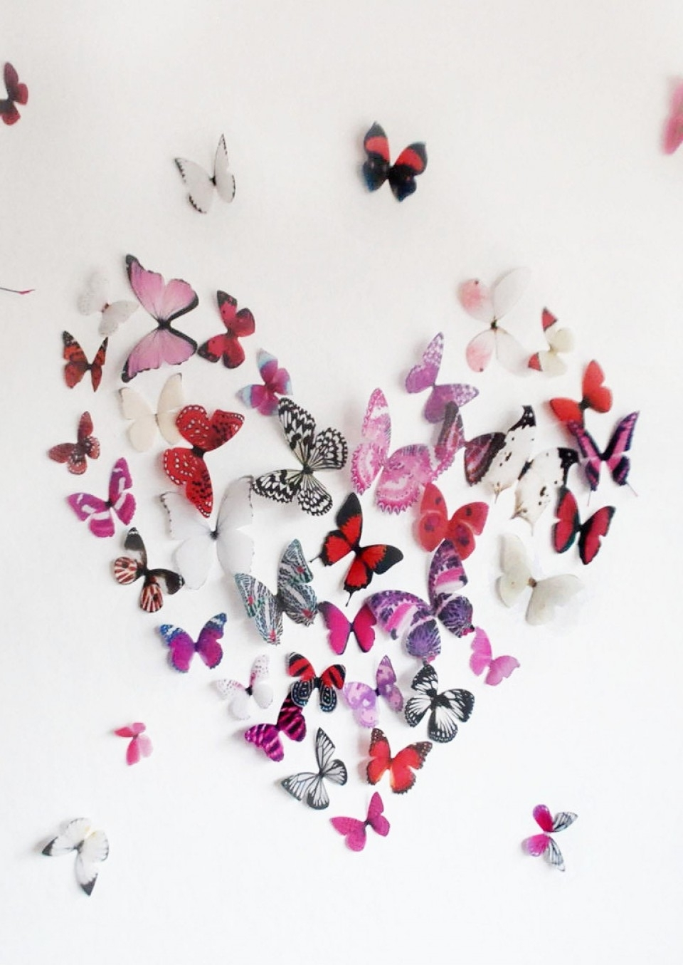 Most Up To Date Pink Butterfly Wall Art Within 3D Pink Butterfly Wall Art (View 10 of 15)