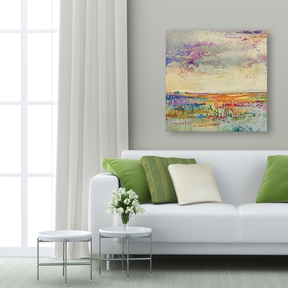 Most Up To Date Portfolio Canvas Decor 'wildflower Sunrise I' Large Framed Printed Throughout Large Framed Wall Art (View 8 of 15)