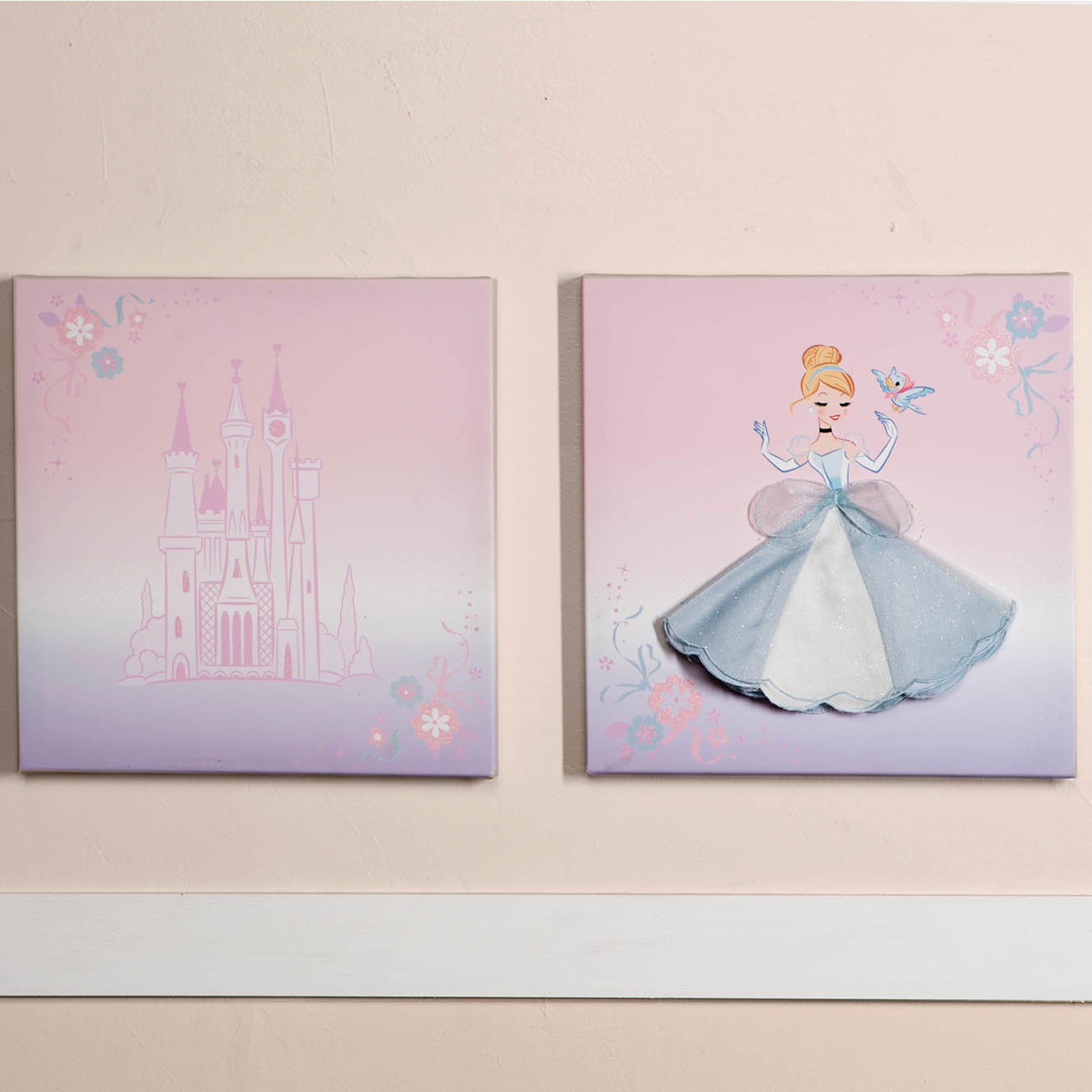 Most Up To Date The Cinderella Crib Collection Is Ideal For Any Little Princess Pertaining To Childrens Wall Art Canvas (View 12 of 15)