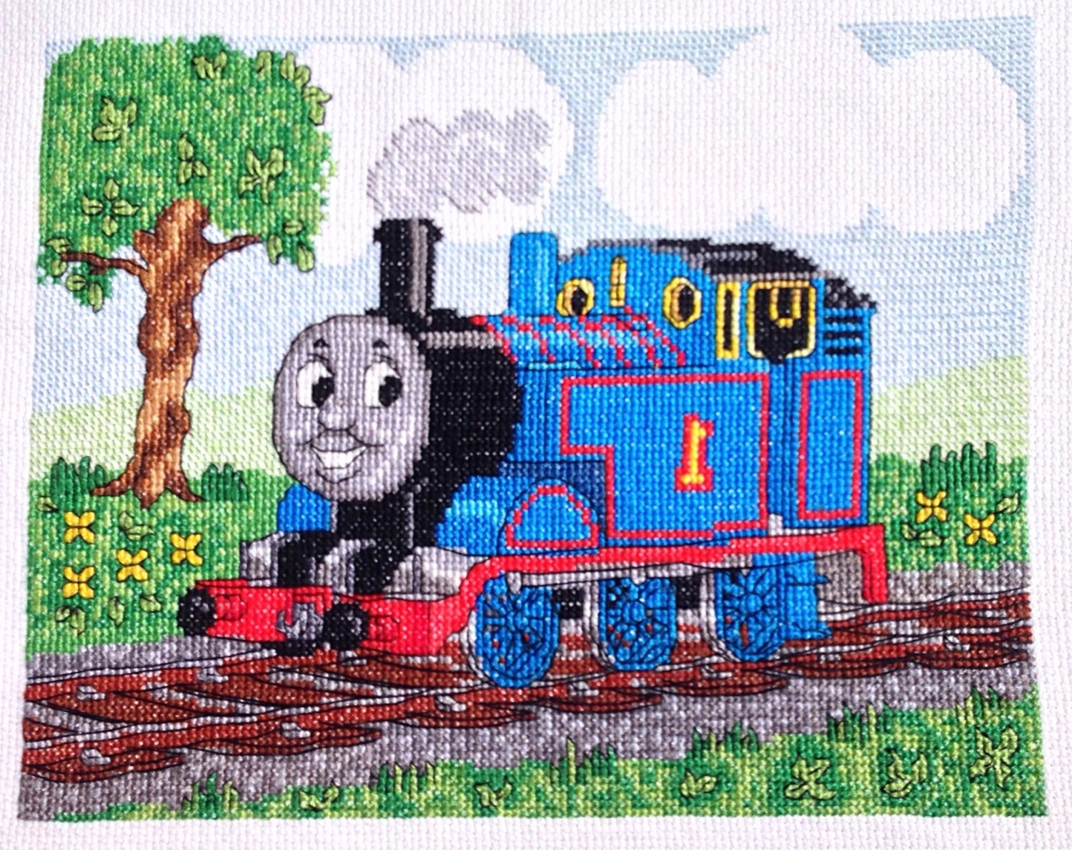 Most Up To Date Thomas The Train And Friends Tank Engine Cross Stitch, Needlework With Thomas The Tank Wall Art (View 5 of 15)
