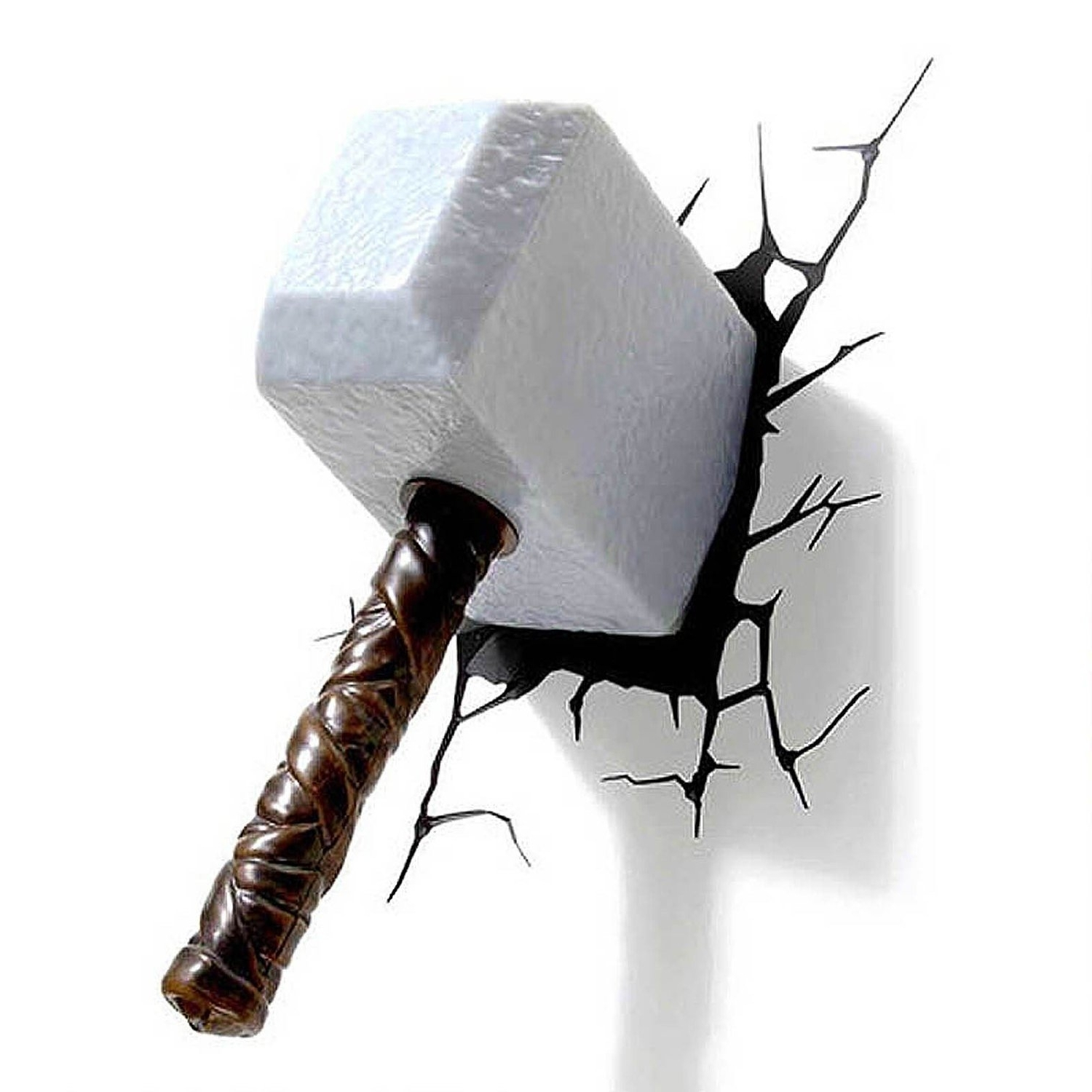 Photos of thor hammer 3d wall art showing 1 of 15 photos most up to date thor mjolnir hammer 3d wall light for sale lolcoolstuff within thor mozeypictures